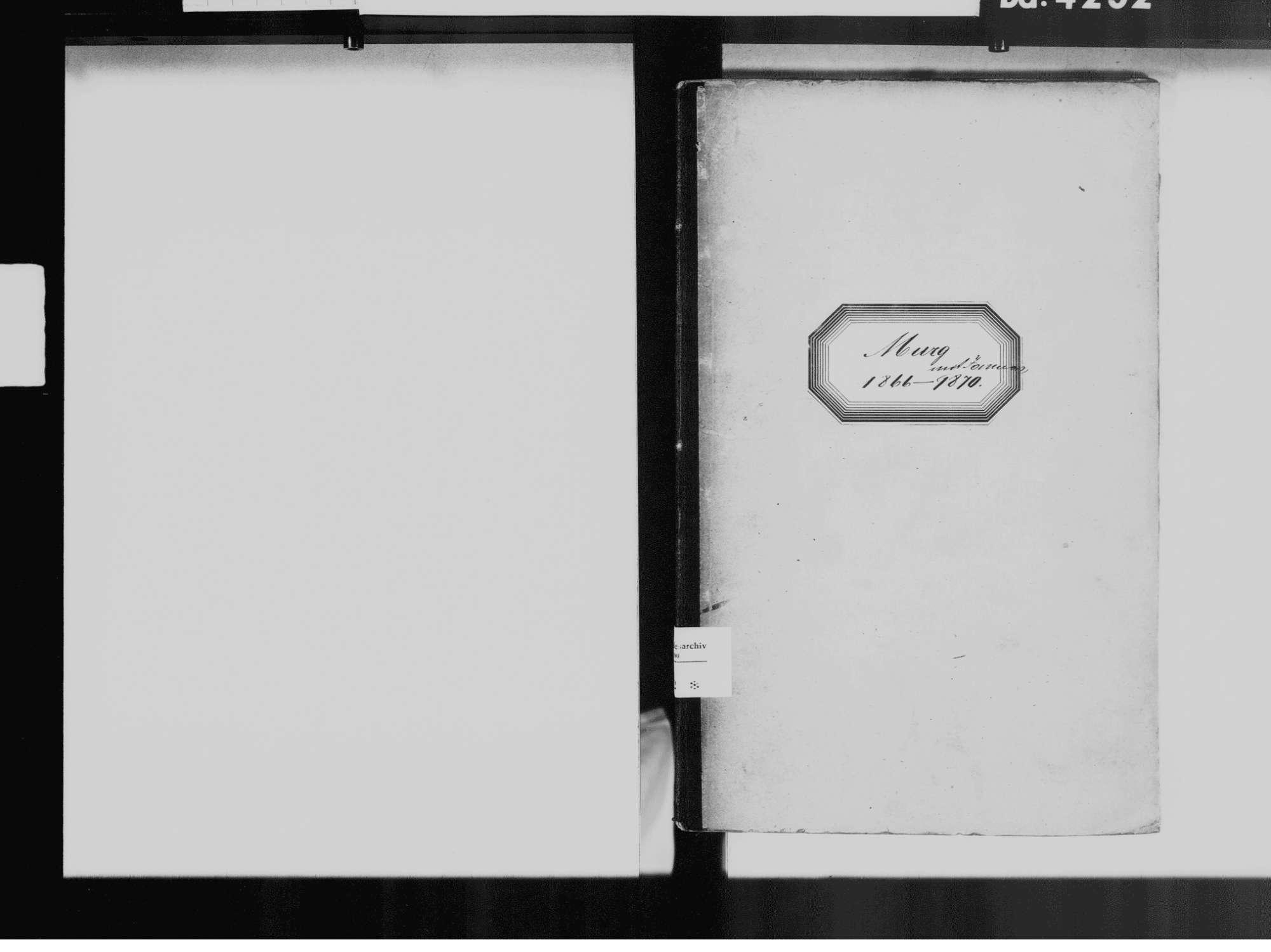 Murg WT; Katholische Gemeinde: Geburtenbuch 1866-1870, Bild 3