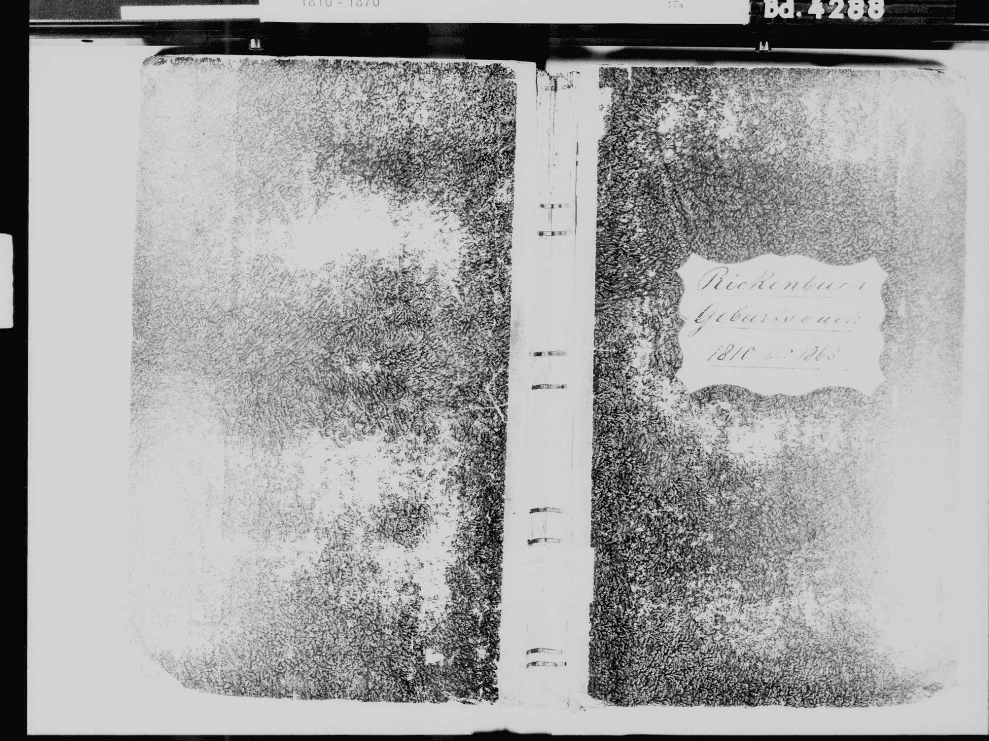 Rickenbach WT; Katholische Gemeinde: Geburtenbuch 1810-1865, Bild 2
