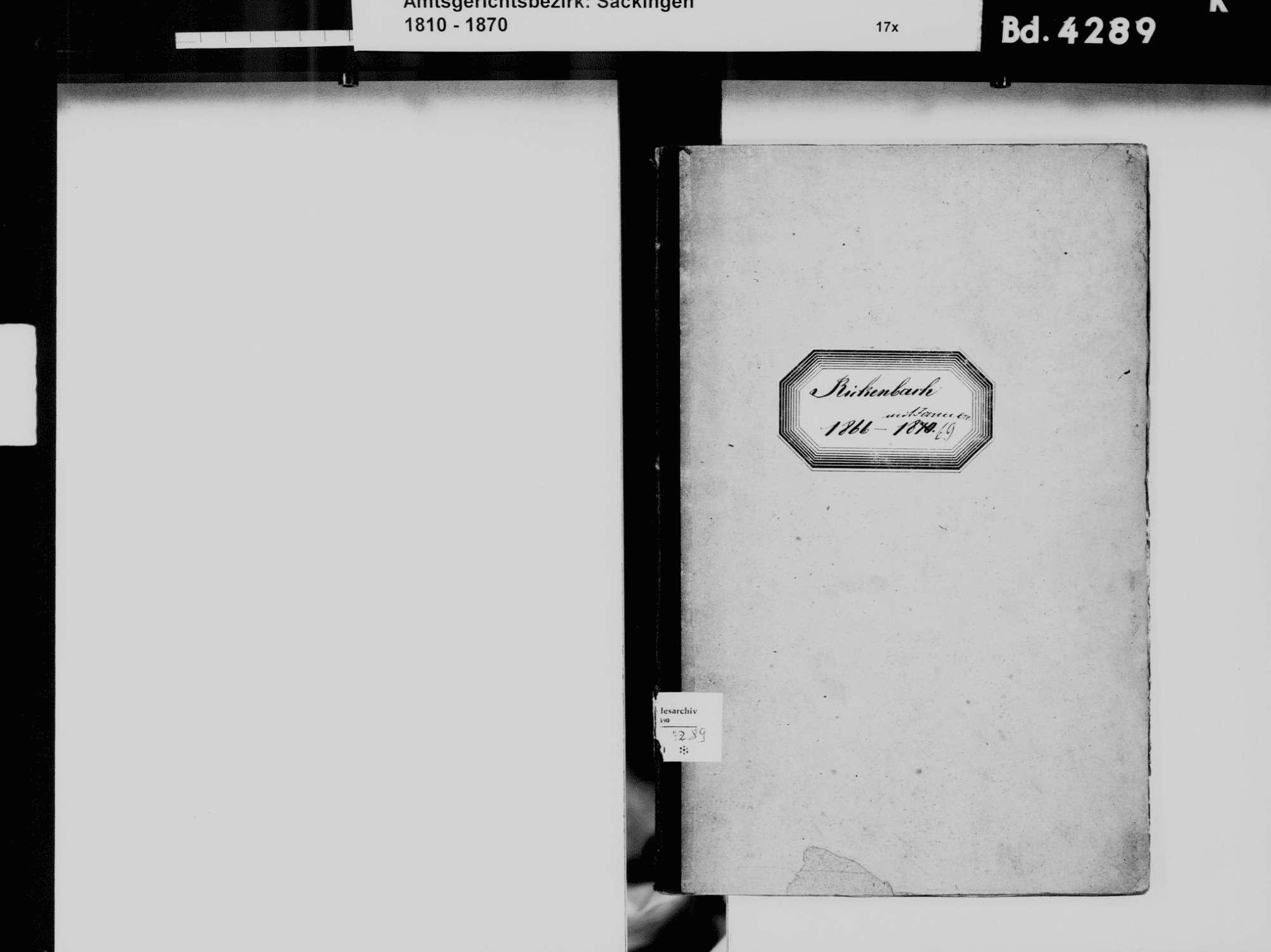 Rickenbach WT; Katholische Gemeinde: Geburtenbuch 1866-1869, Bild 3