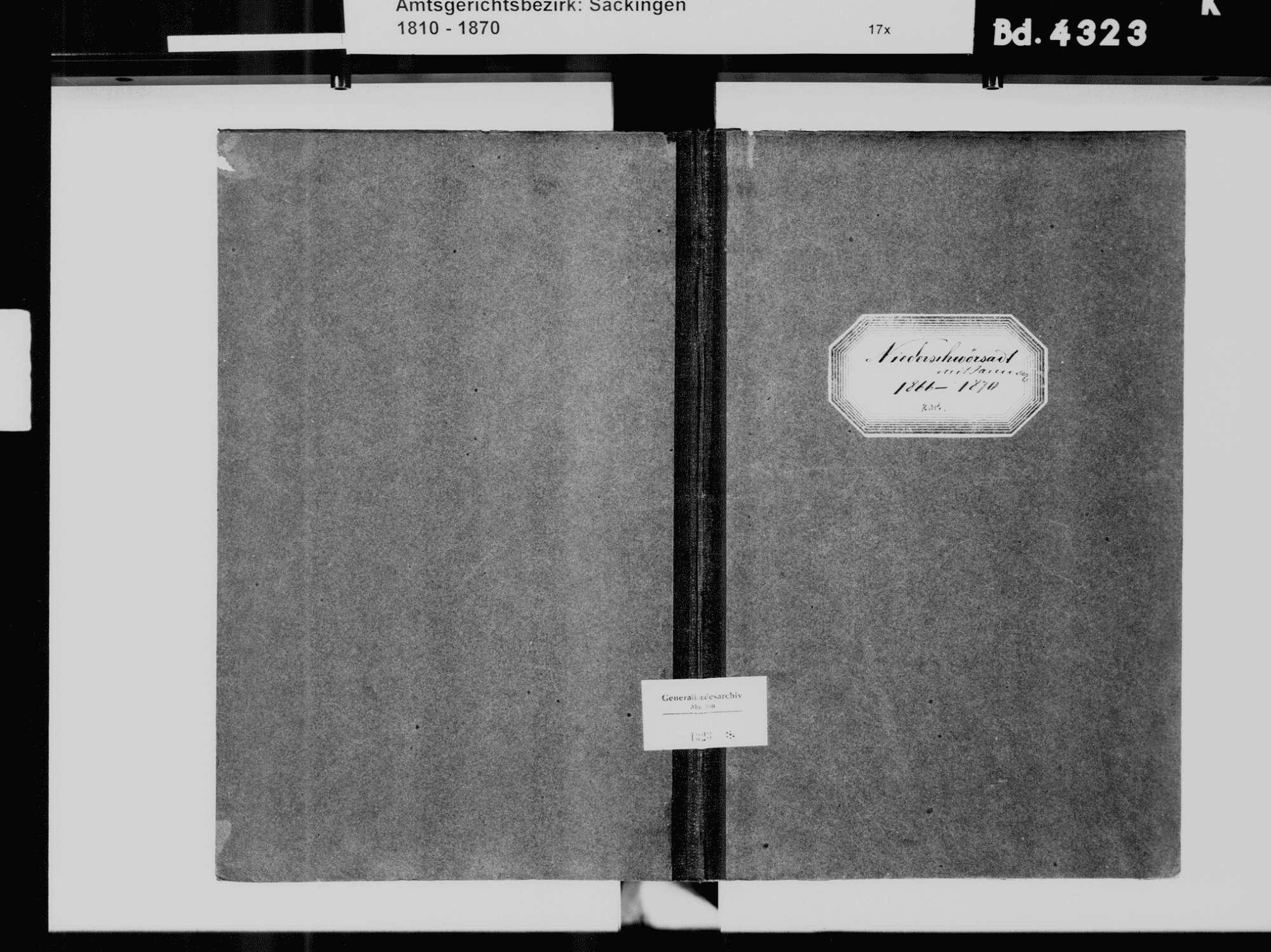 Niederschwörstadt, Schwörstadt LÖ; Katholische Gemeinde: Heiratsbuch 1866-1870, Bild 2