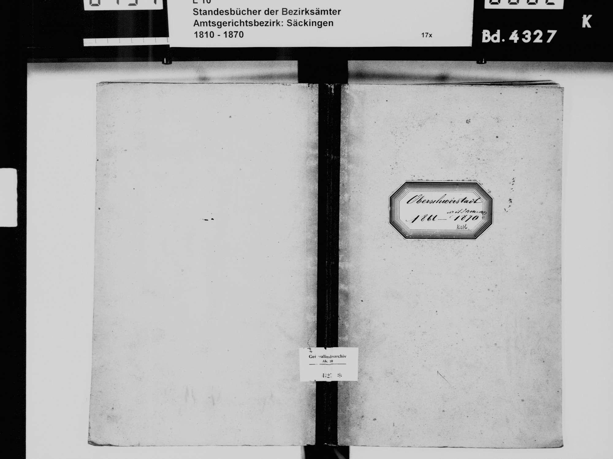 Niederschwörstadt, Schwörstadt LÖ; Katholische Gemeinde: Geburtenbuch 1866-1870, Bild 2