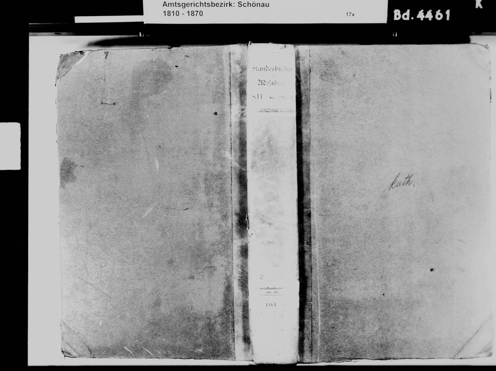 Adelsberg, Zell im Wiesental LÖ; Katholische Gemeinde: Standesbuch 1811-1869, Bild 2