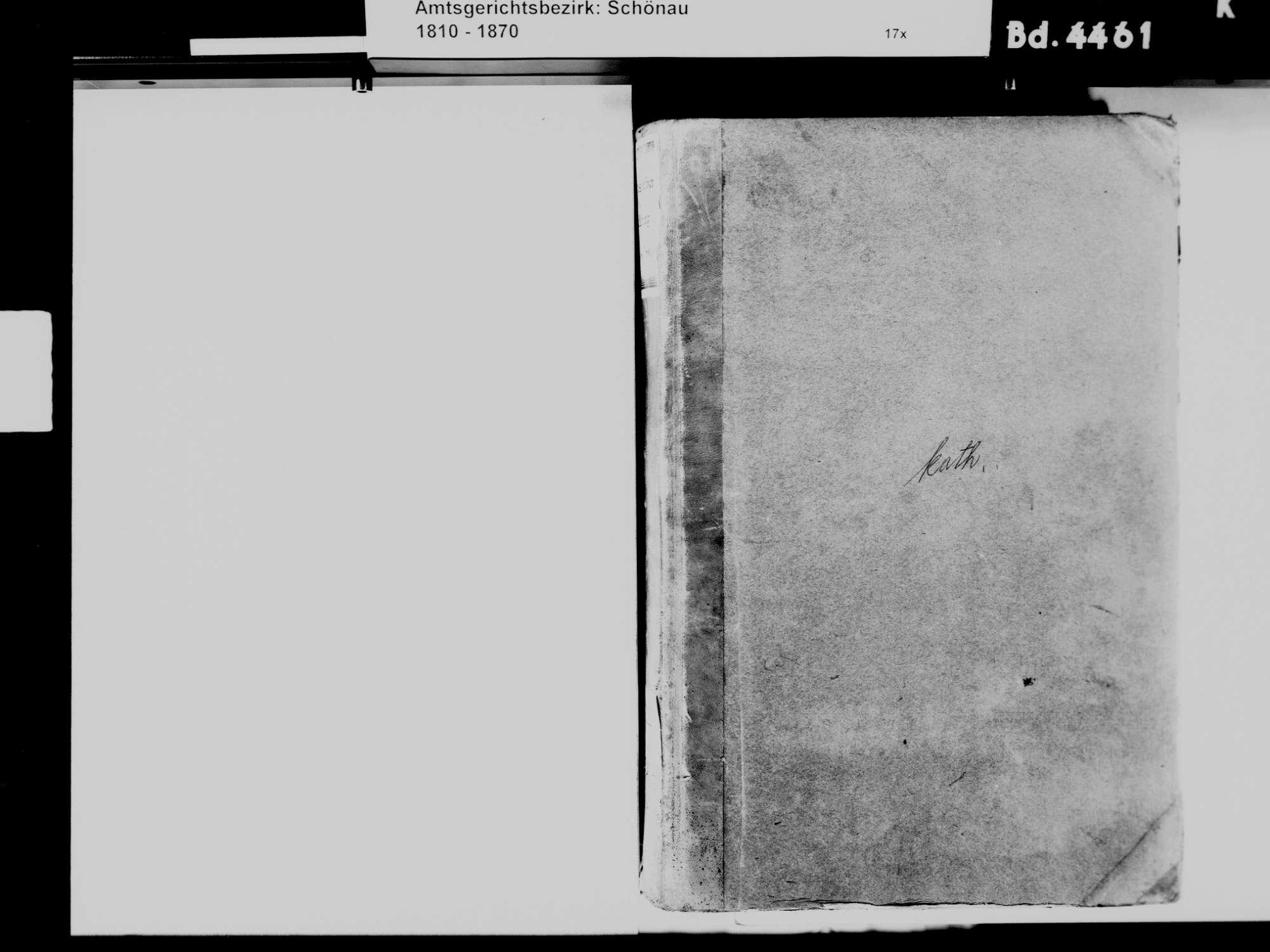 Adelsberg, Zell im Wiesental LÖ; Katholische Gemeinde: Standesbuch 1811-1869, Bild 3