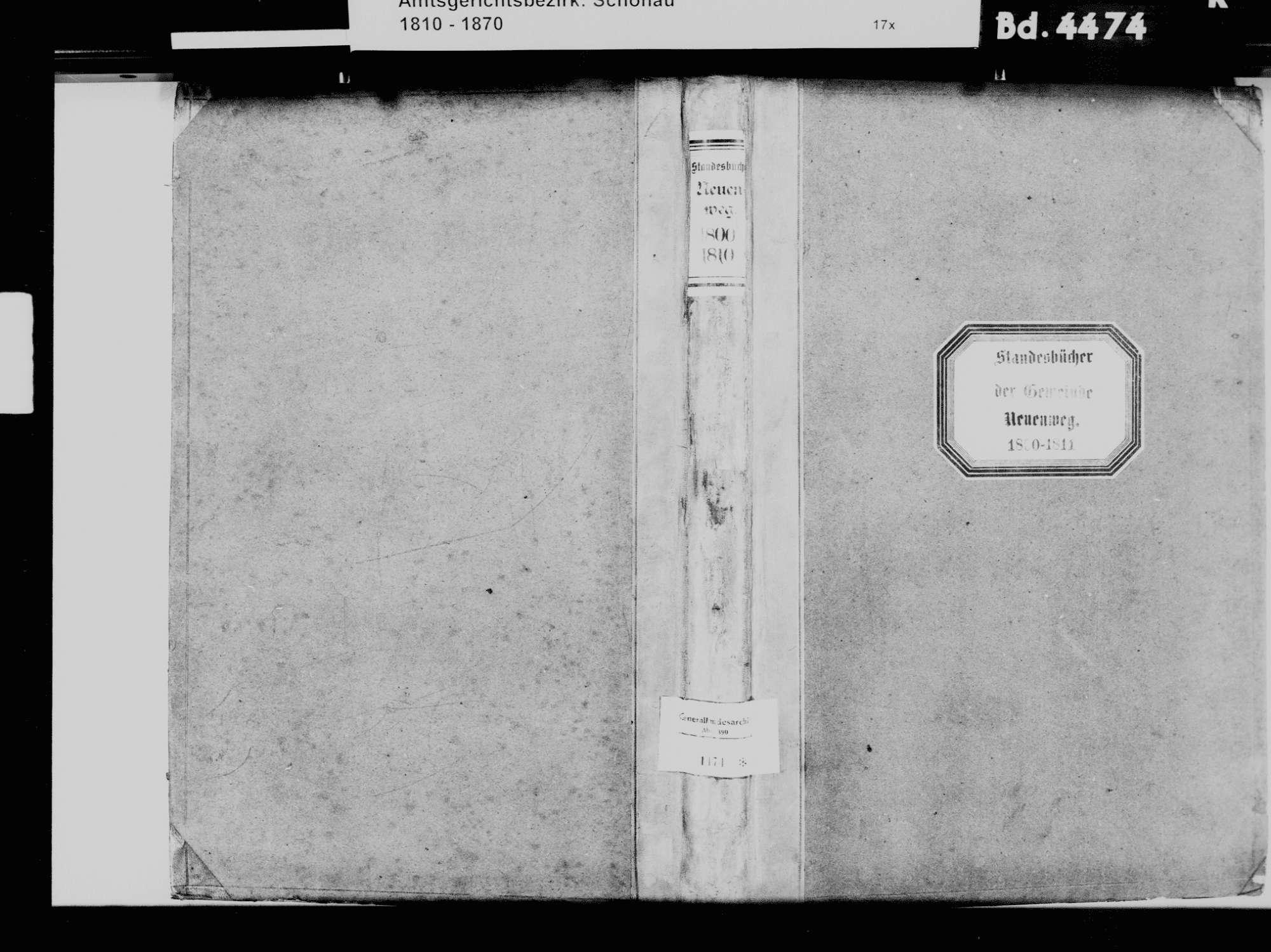 Neuenweg LÖ; Katholische Gemeinde: Standesbuch 1800-1810, Bild 2