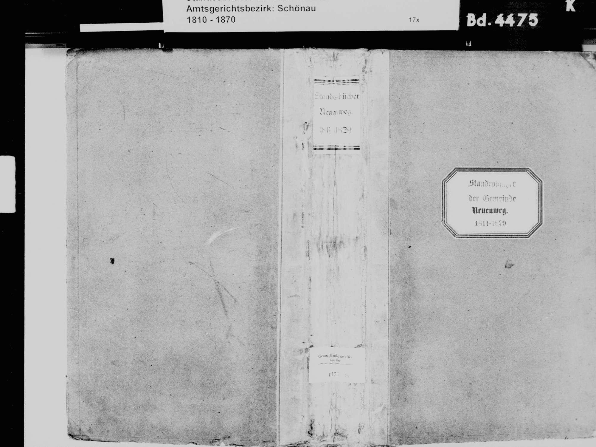 Neuenweg LÖ; Katholische Gemeinde: Standesbuch 1811-1829, Bild 2