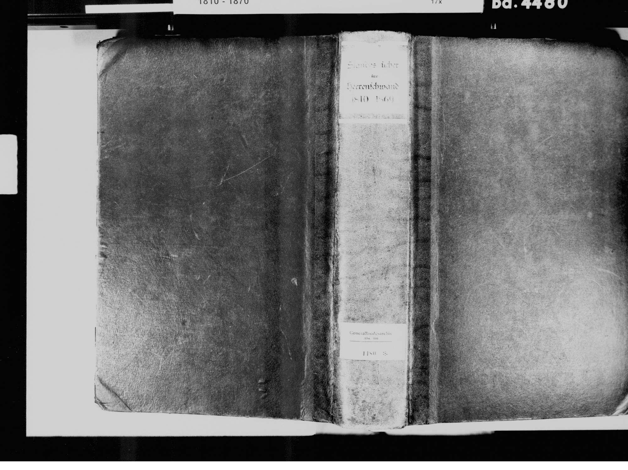 Herrenschwand, Präg, Todtnau LÖ; Katholische Gemeinde: Standesbuch 1810-1869, Bild 2