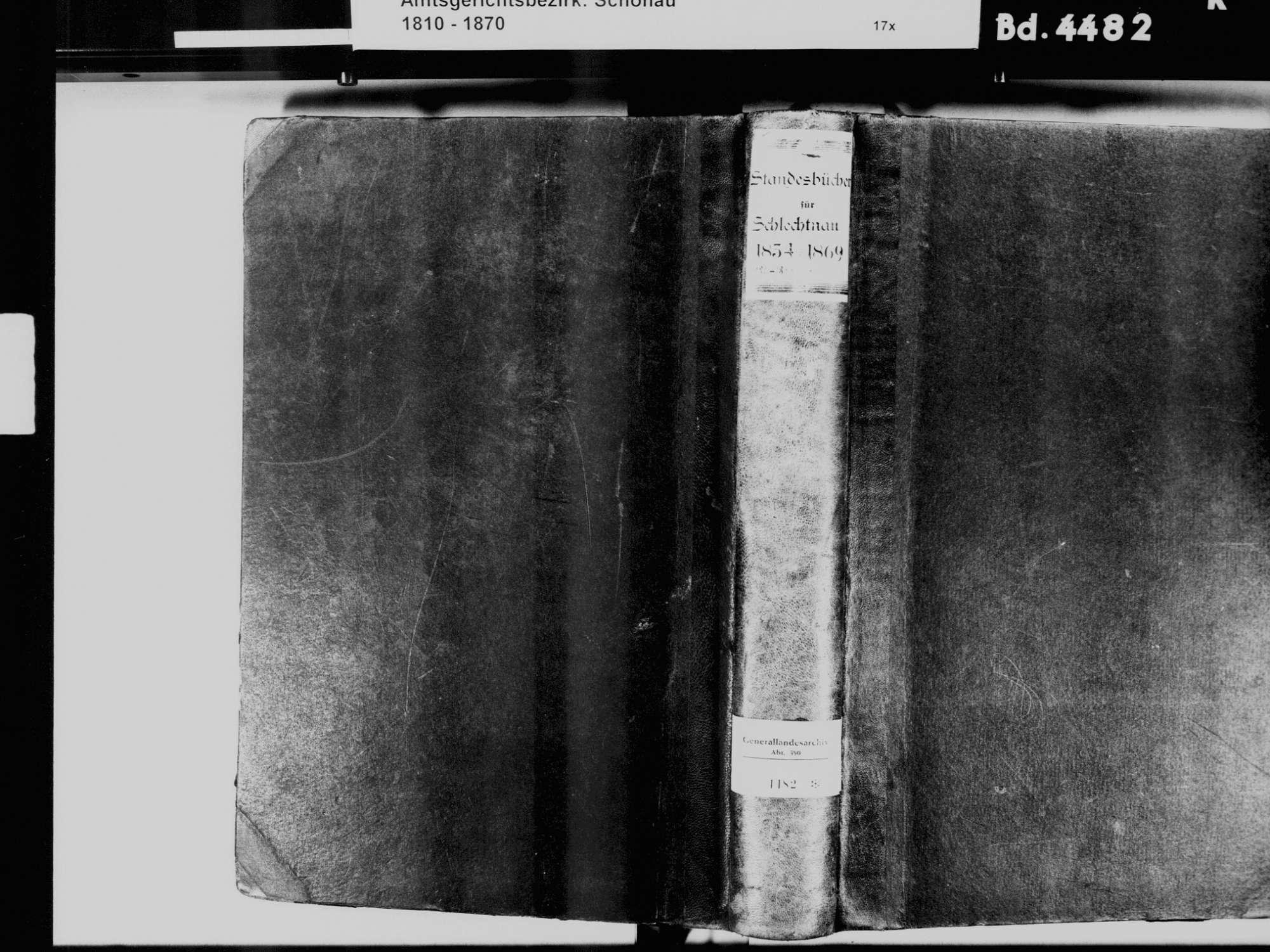 Schlechtnau, Todtnau LÖ; Katholische Gemeinde: Standesbuch 1834-1869, Bild 2