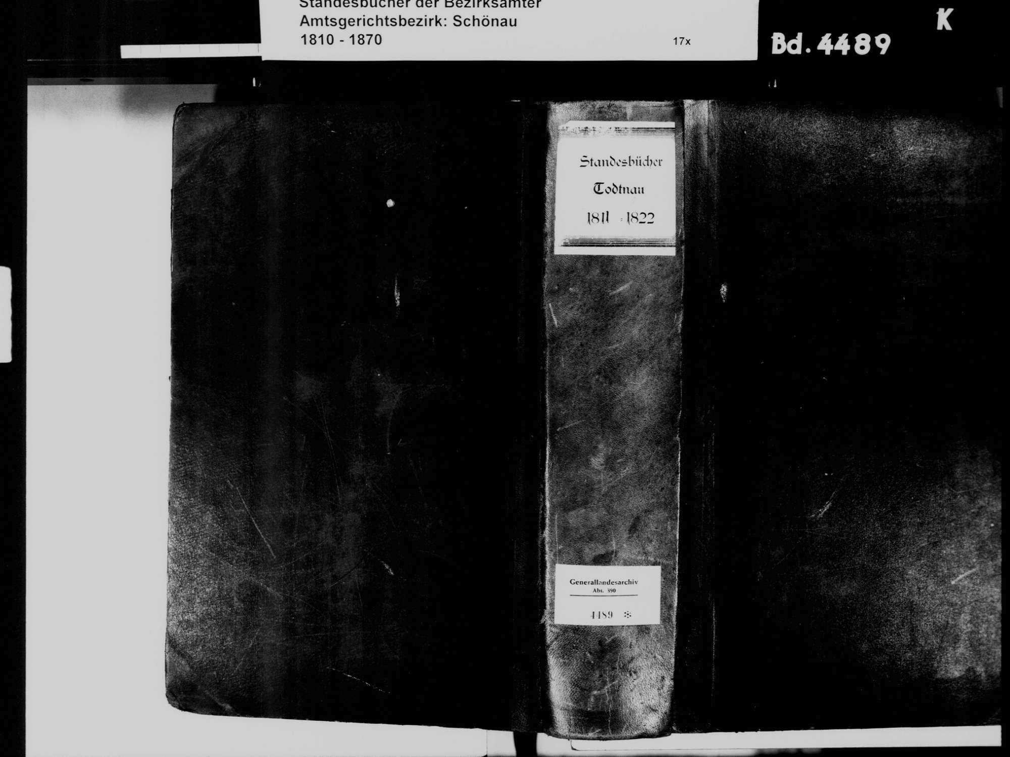 Todtnau LÖ; Katholische Gemeinde: Standesbuch 1811-1822, Bild 2