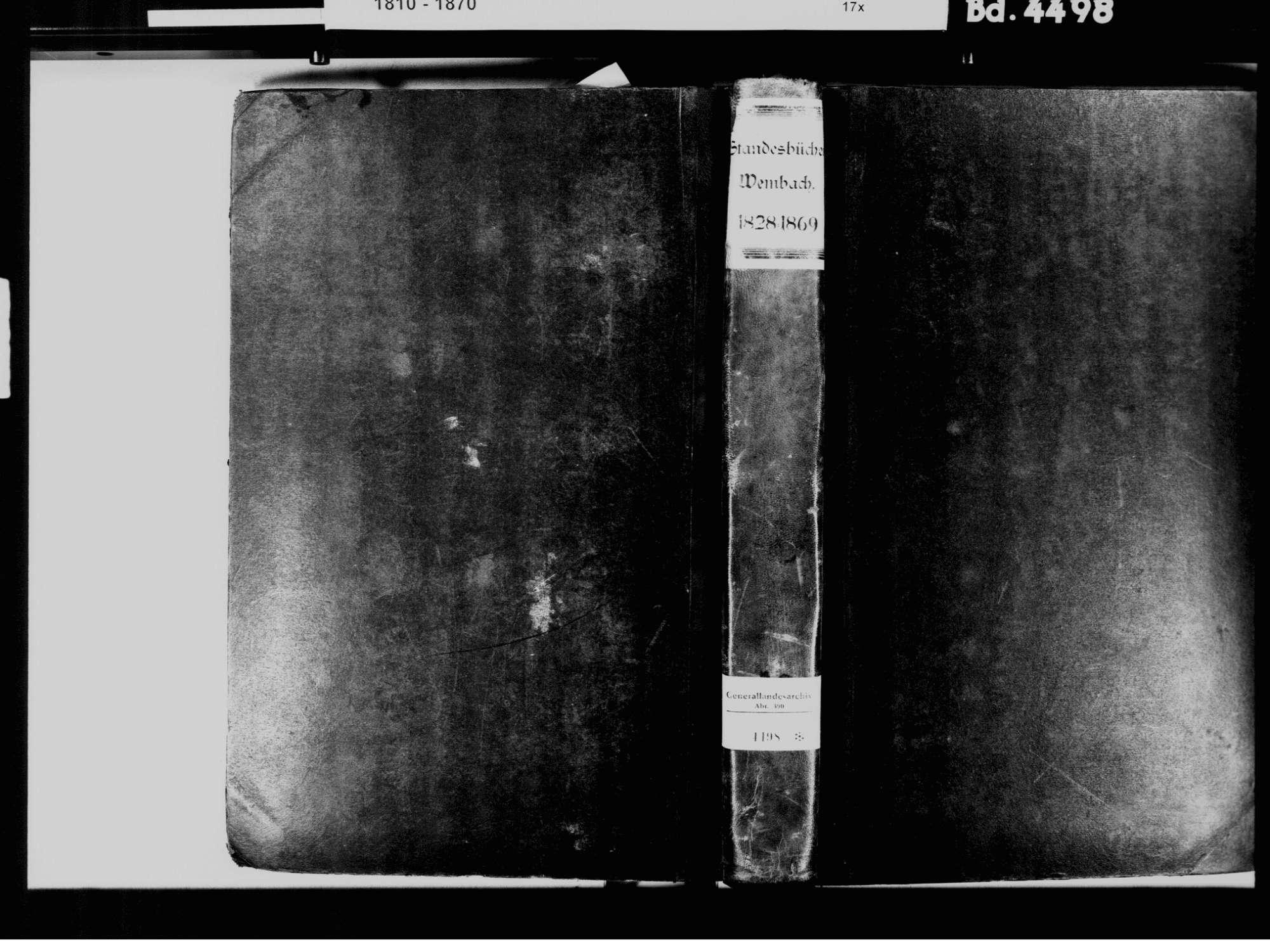 Wembach LÖ; Katholische Gemeinde: Standesbuch 1828-1869, Bild 2