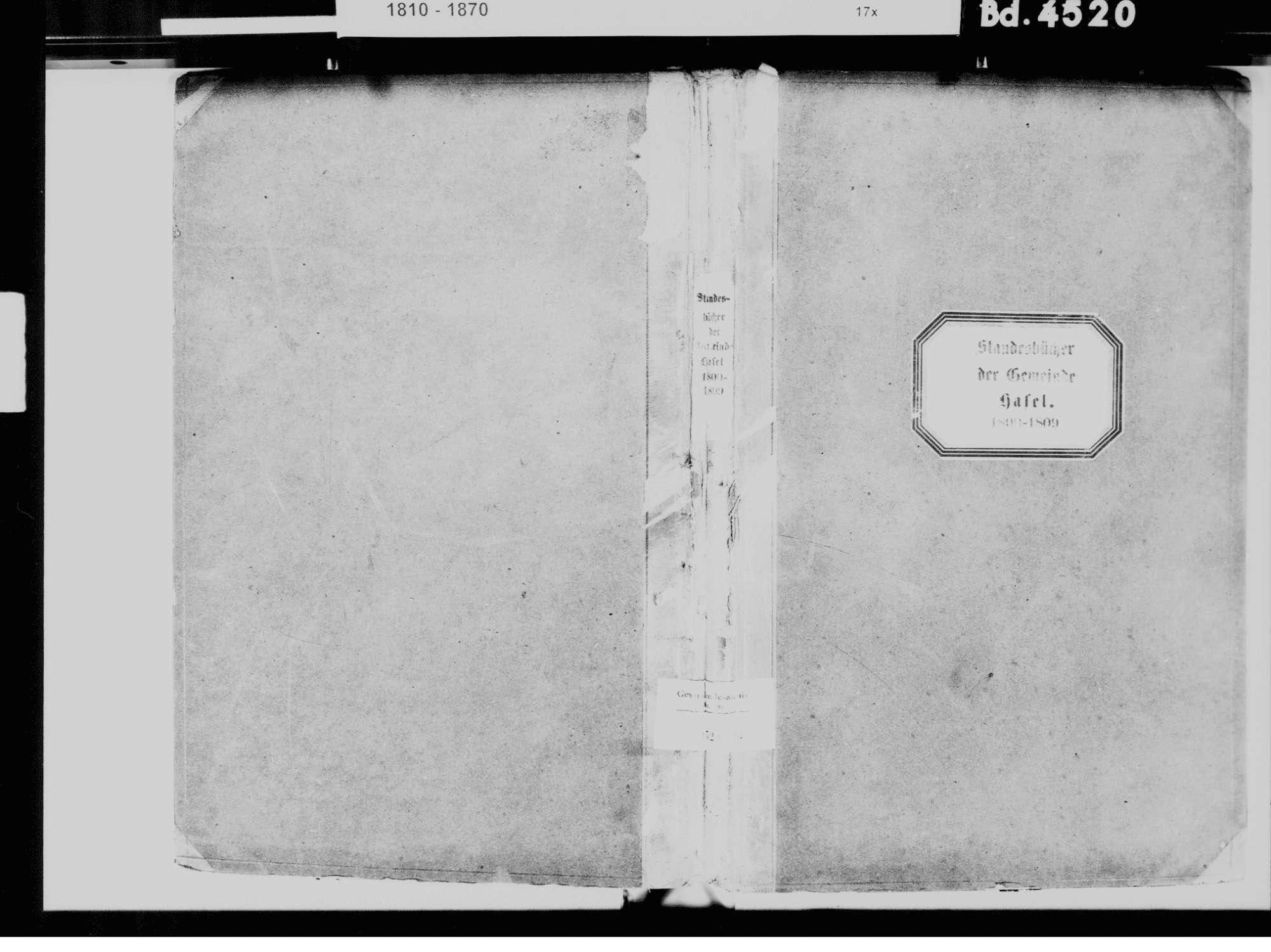 Hasel LÖ, Evangelische Gemeinde: Standesbuch 1800-1809, Bild 2