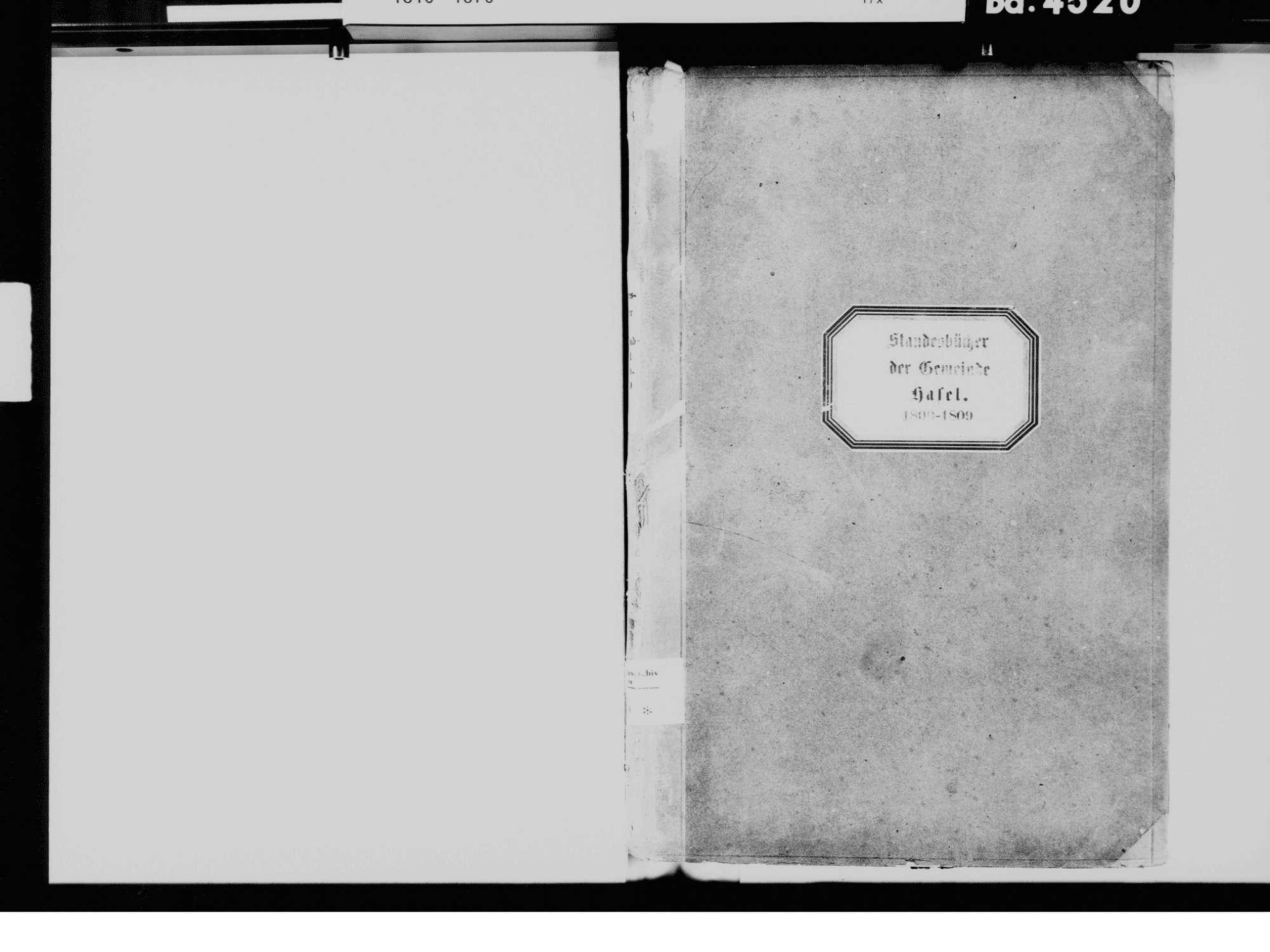 Hasel LÖ, Evangelische Gemeinde: Standesbuch 1800-1809, Bild 3