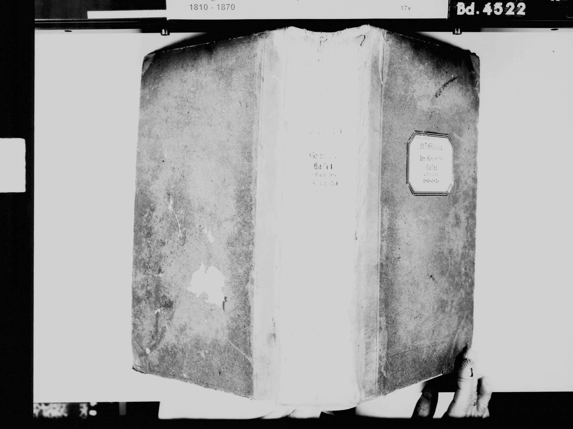 Hasel LÖ, Evangelische Gemeinde: Standesbuch 1840-1870, Bild 2