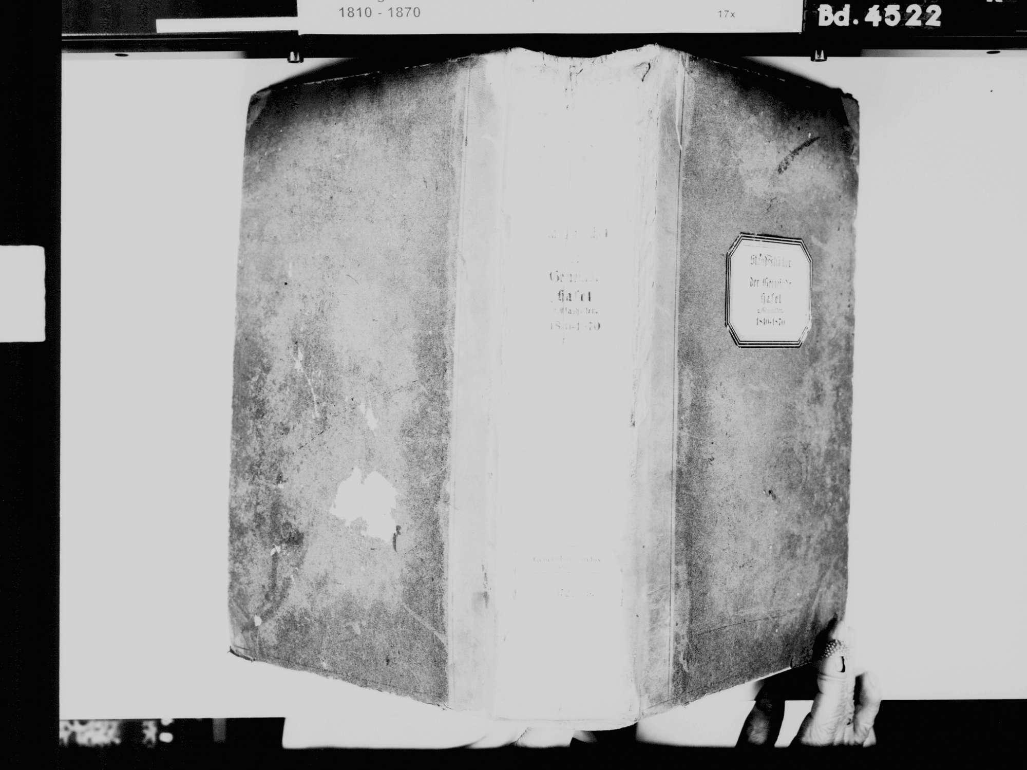 Hasel LÖ, Evangelische Gemeinde: Standesbuch 1840-1870, Bild 3