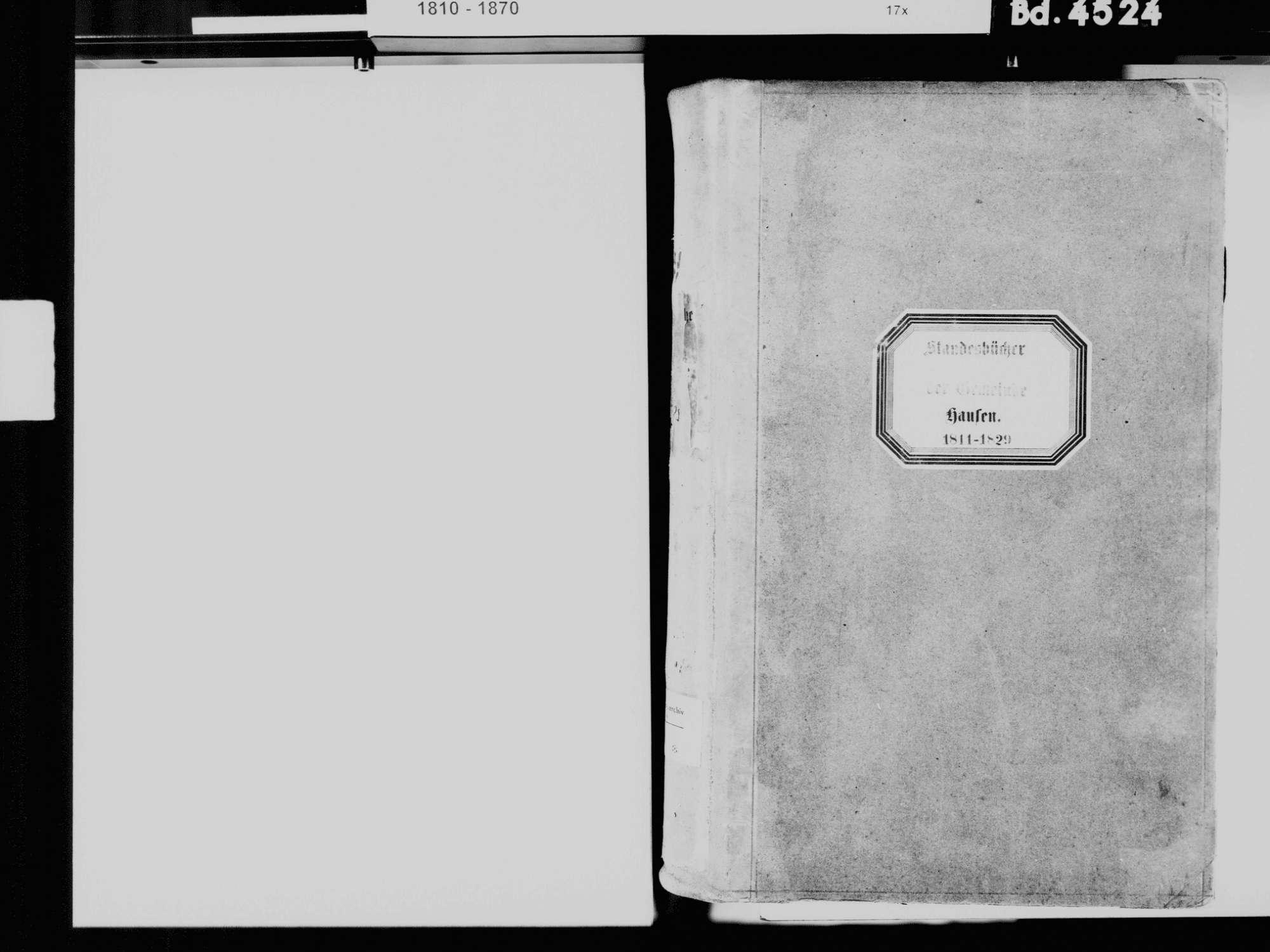 Hausen im Wiesental LÖ; Evangelische Gemeinde: Standesbuch 1811-1829, Bild 3