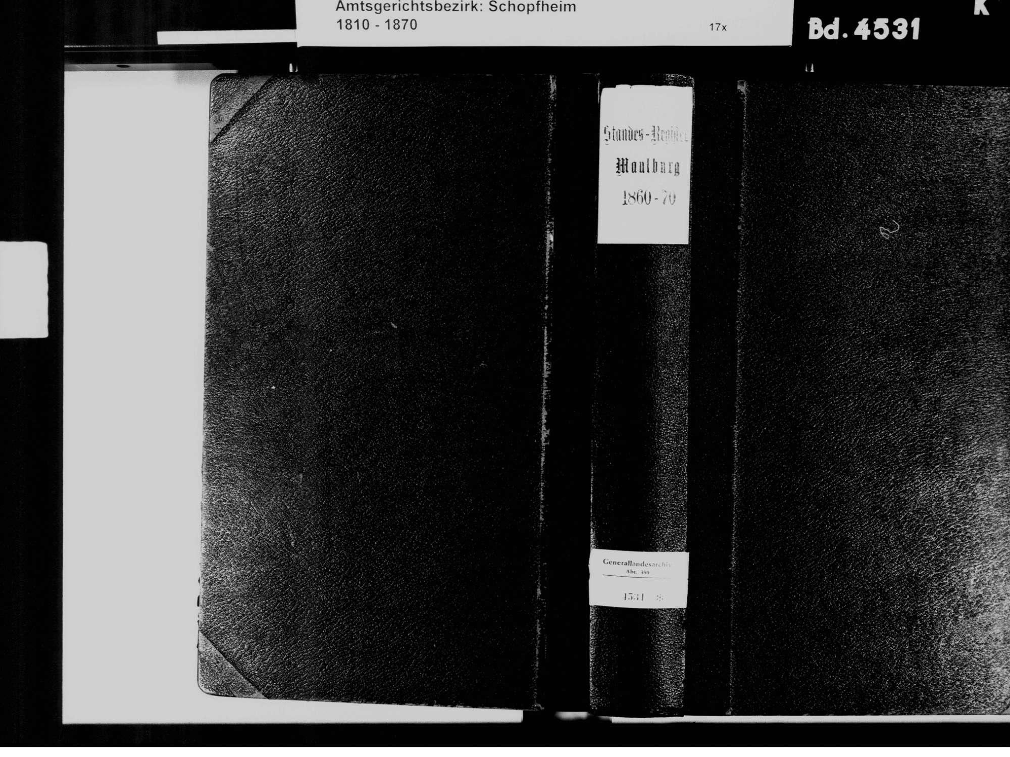 Maulburg LÖ; Evangelische Gemeinde: Standesbuch 1860-1870, Bild 2