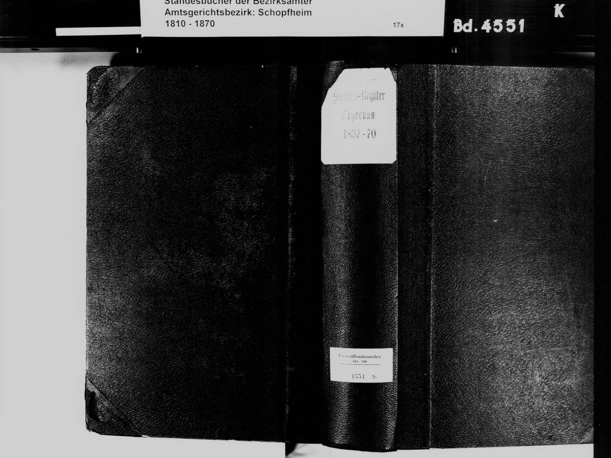 Tegernau LÖ; Evangelische Gemeinde: Standesbuch 1837-1870, Bild 3