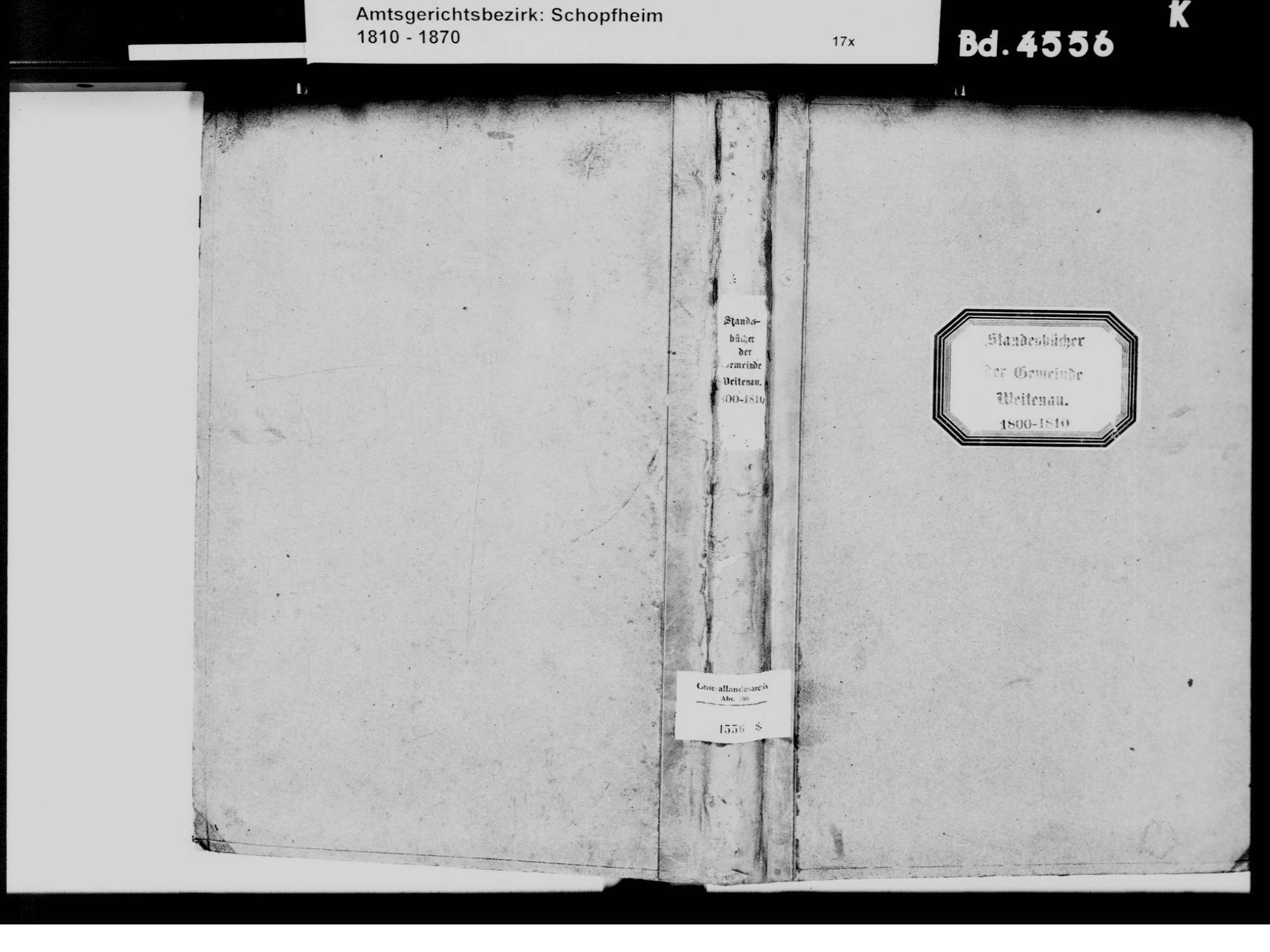 Weitenau, Steinen LÖ; Evangelische Gemeinde: Standesbuch 1800-1810, Bild 2