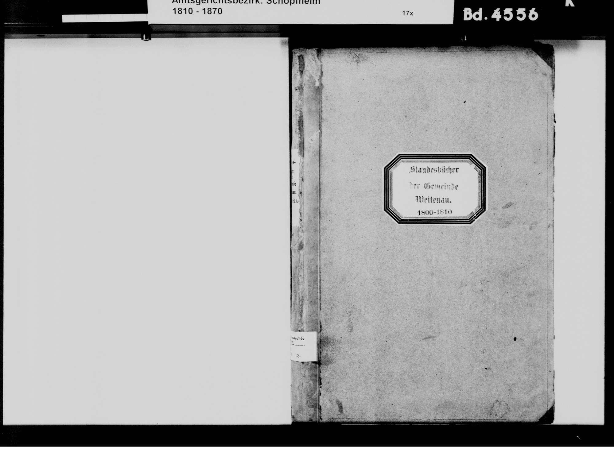 Weitenau, Steinen LÖ; Evangelische Gemeinde: Standesbuch 1800-1810, Bild 3