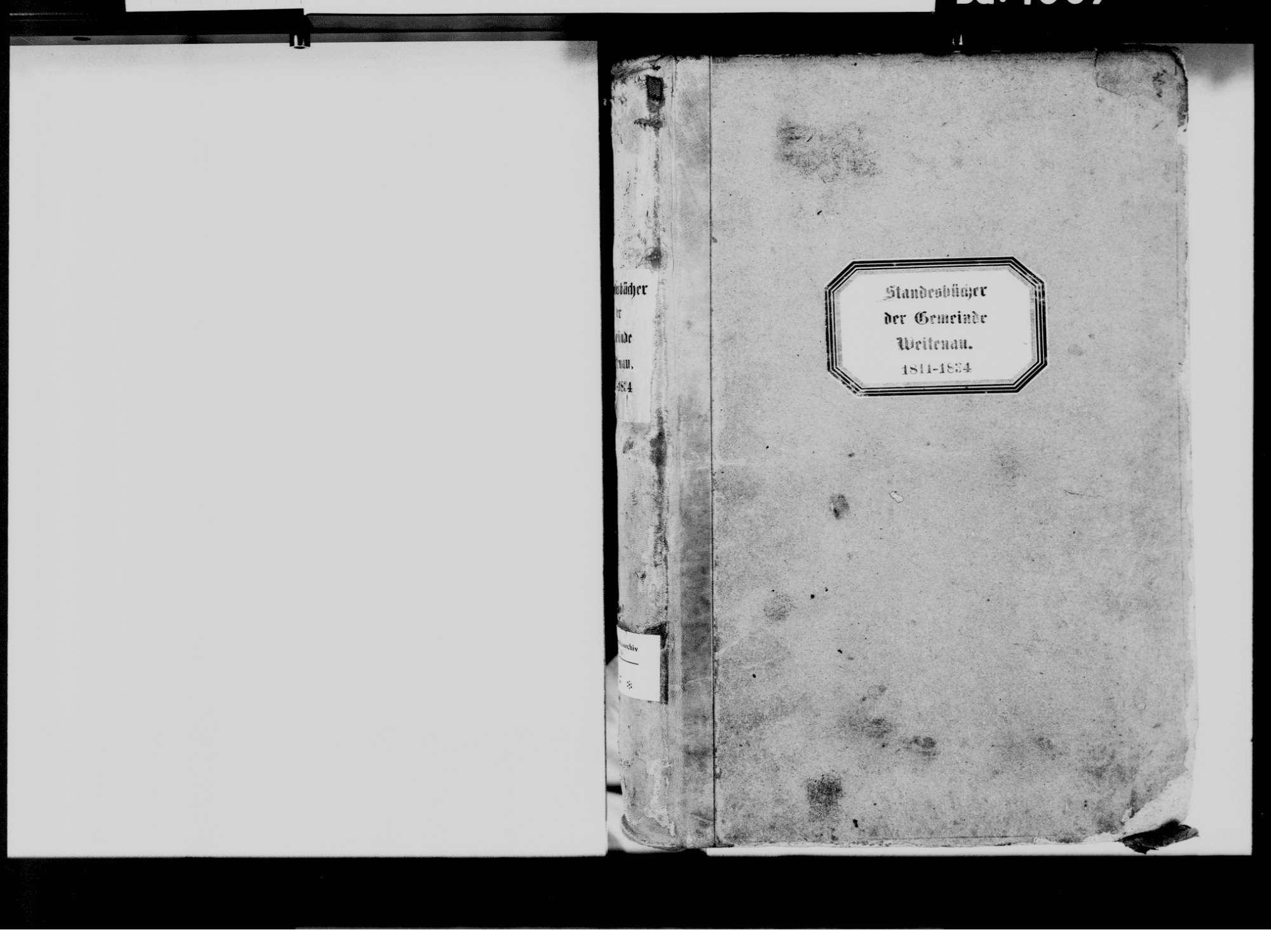 Weitenau, Steinen LÖ; Evangelische Gemeinde: Standesbuch 1811-1834, Bild 3