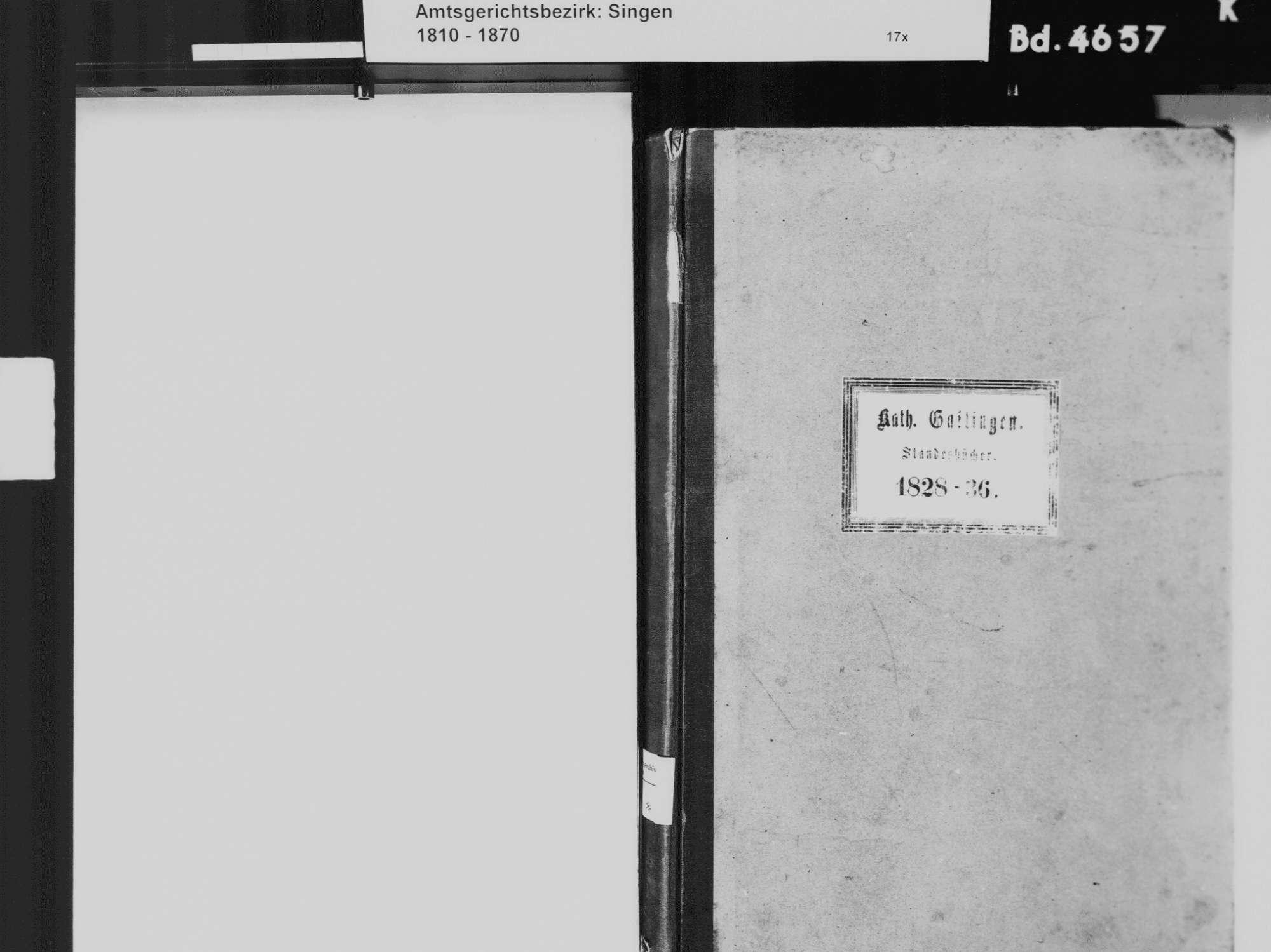 Gailingen KN; Katholische Gemeinde: Standesbuch 1828-1836, Bild 3