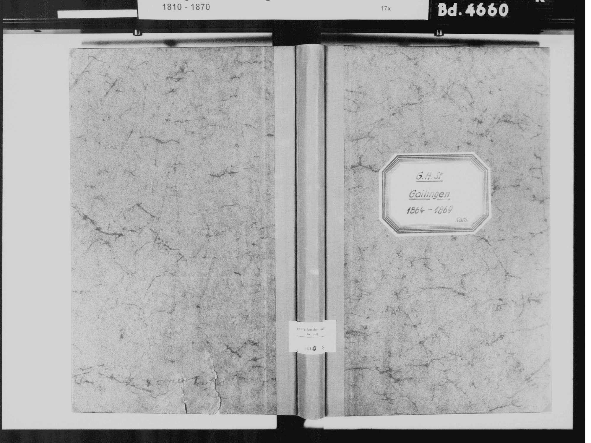 Gailingen KN; Katholische Gemeinde: Standesbuch 1864-1869, Bild 2