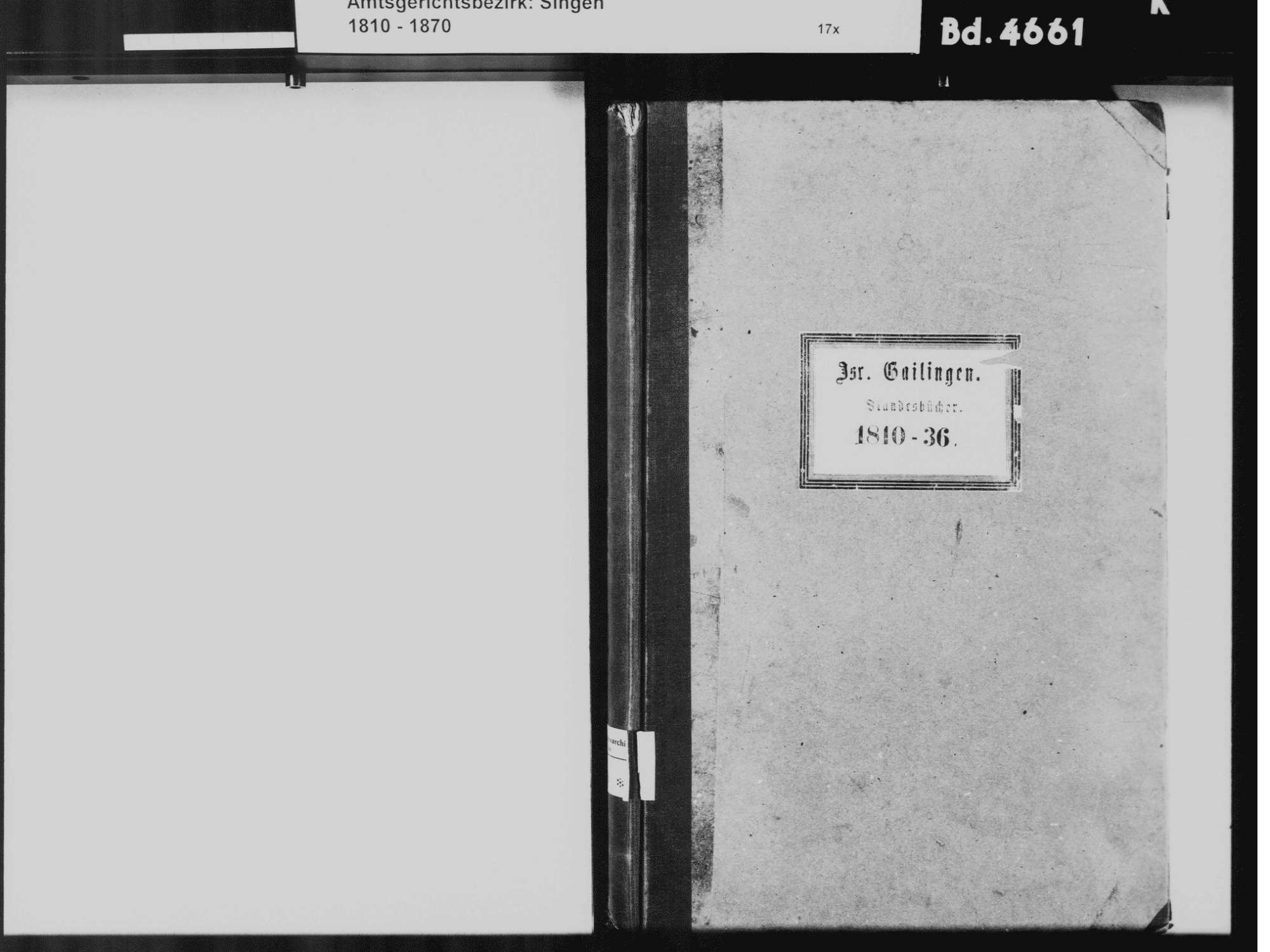 Gailingen KN; Israelitische Gemeinde: Standesbuch 1810-1836, Bild 3