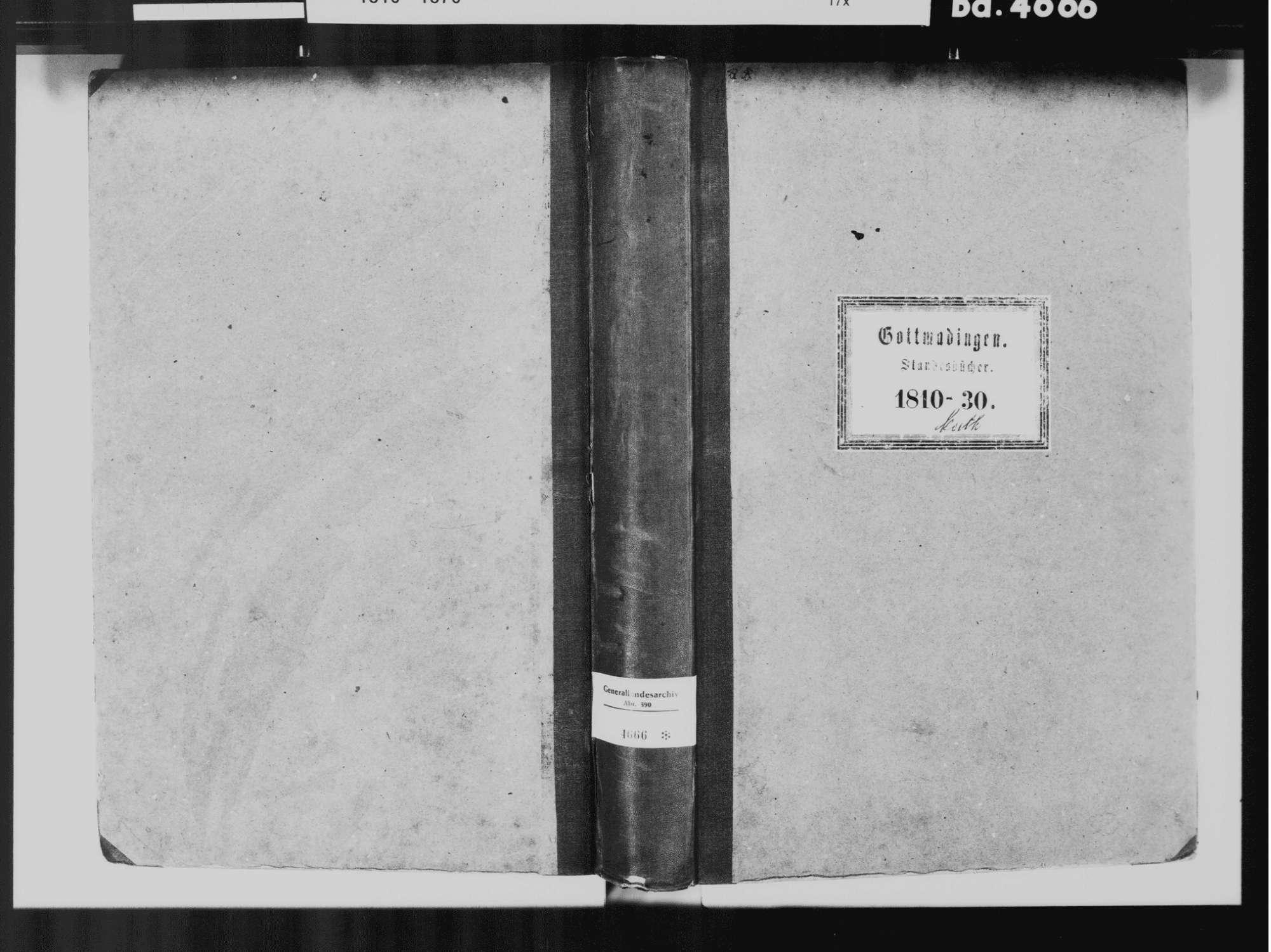 Gottmadingen KN; Katholische Gemeinde: Standesbuch 1810-1830, Bild 2