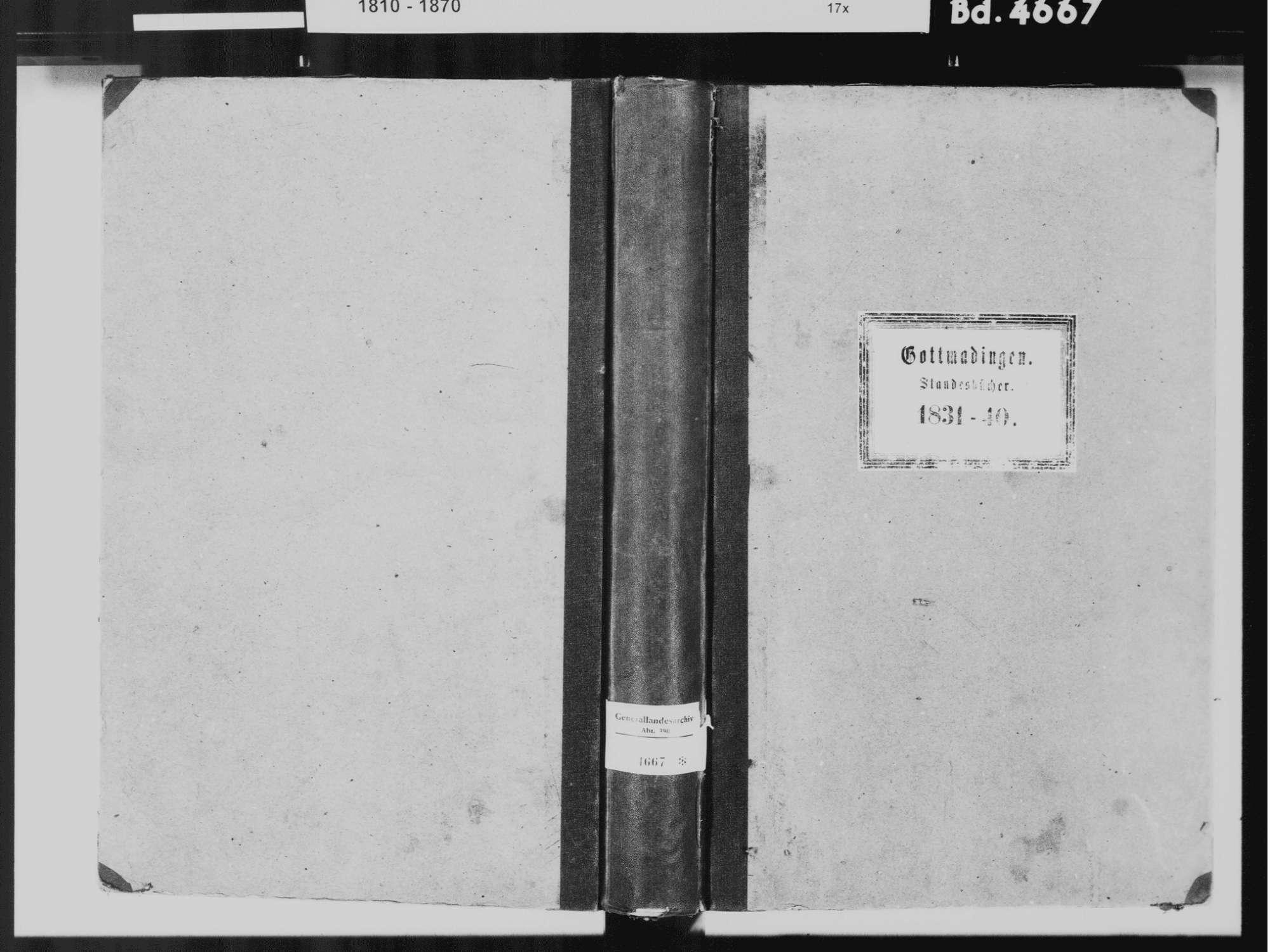 Gottmadingen KN; Katholische Gemeinde: Standesbuch 1831-1840, Bild 2