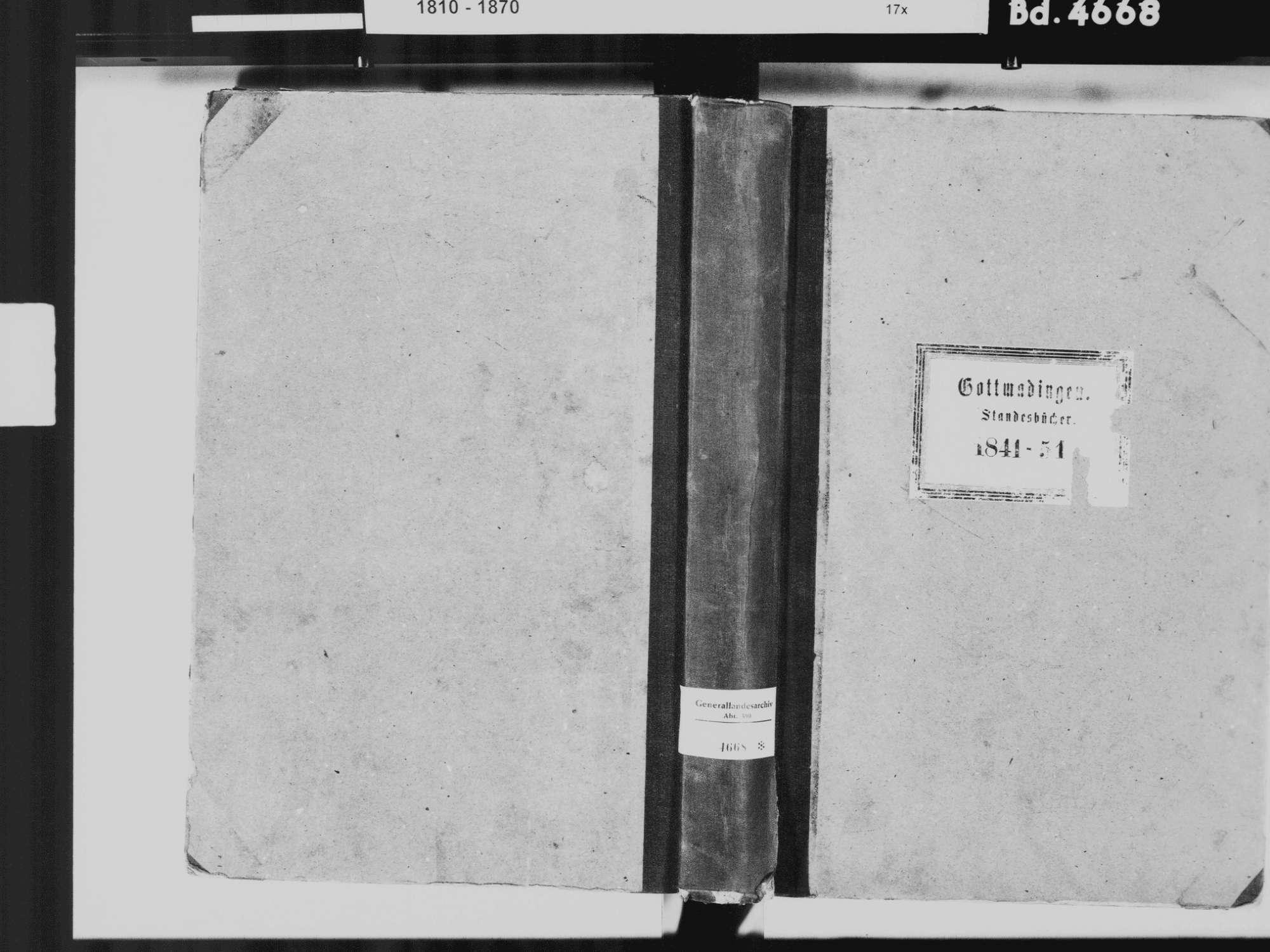 Gottmadingen KN; Katholische Gemeinde: Standesbuch 1841-1851, Bild 2