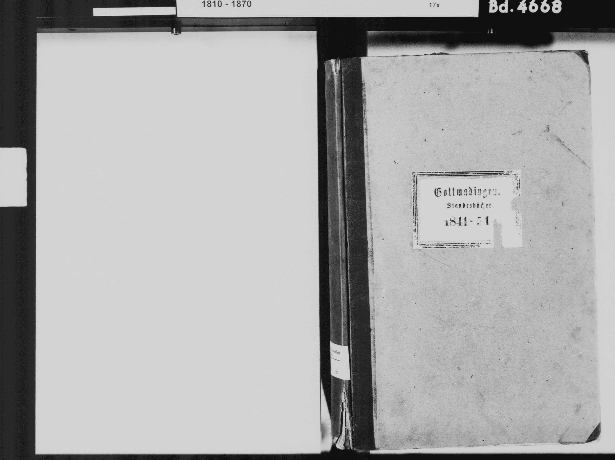 Gottmadingen KN; Katholische Gemeinde: Standesbuch 1841-1851, Bild 3