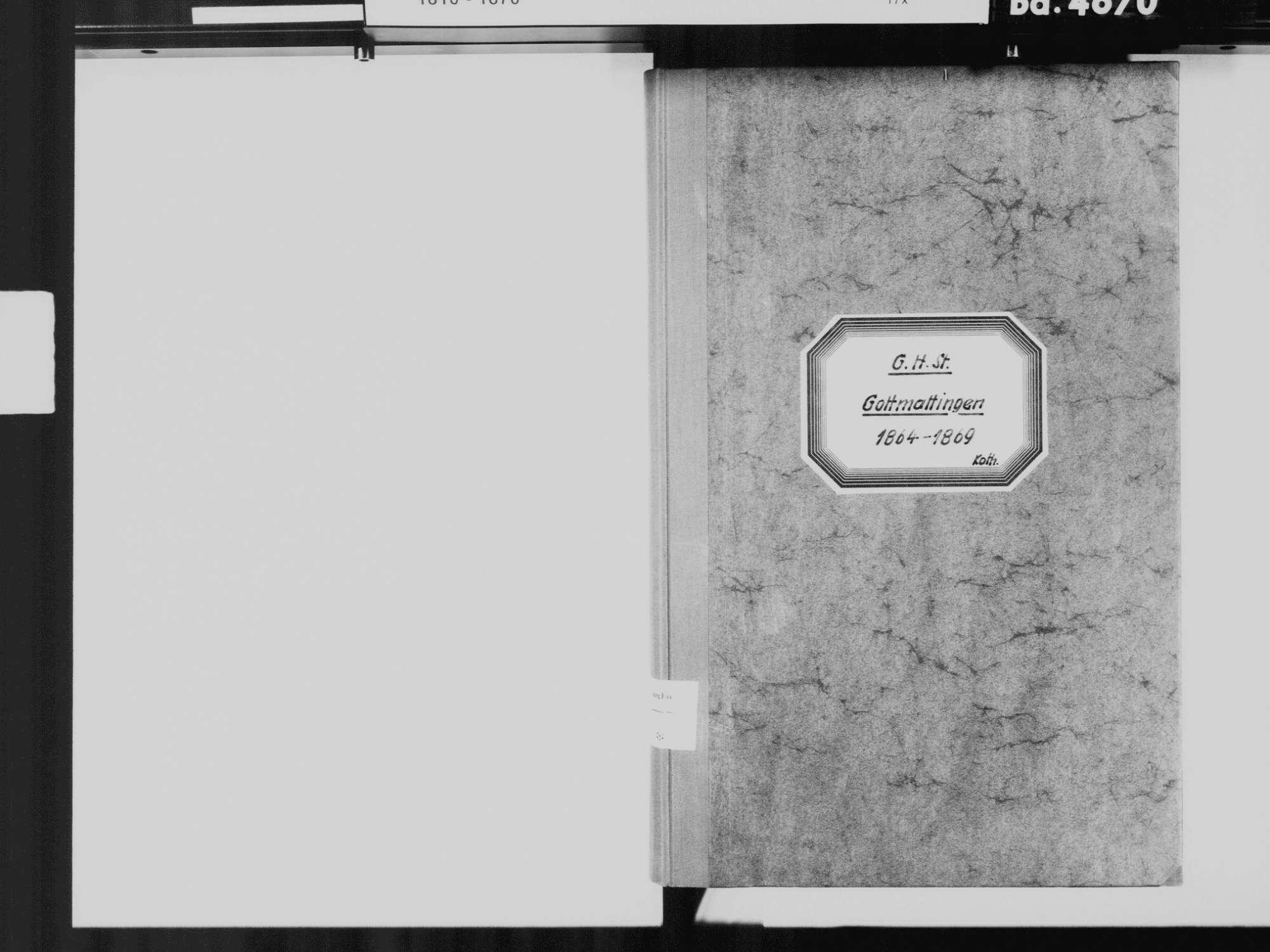 Gottmadingen KN; Katholische Gemeinde: Standesbuch 1864-1869, Bild 3