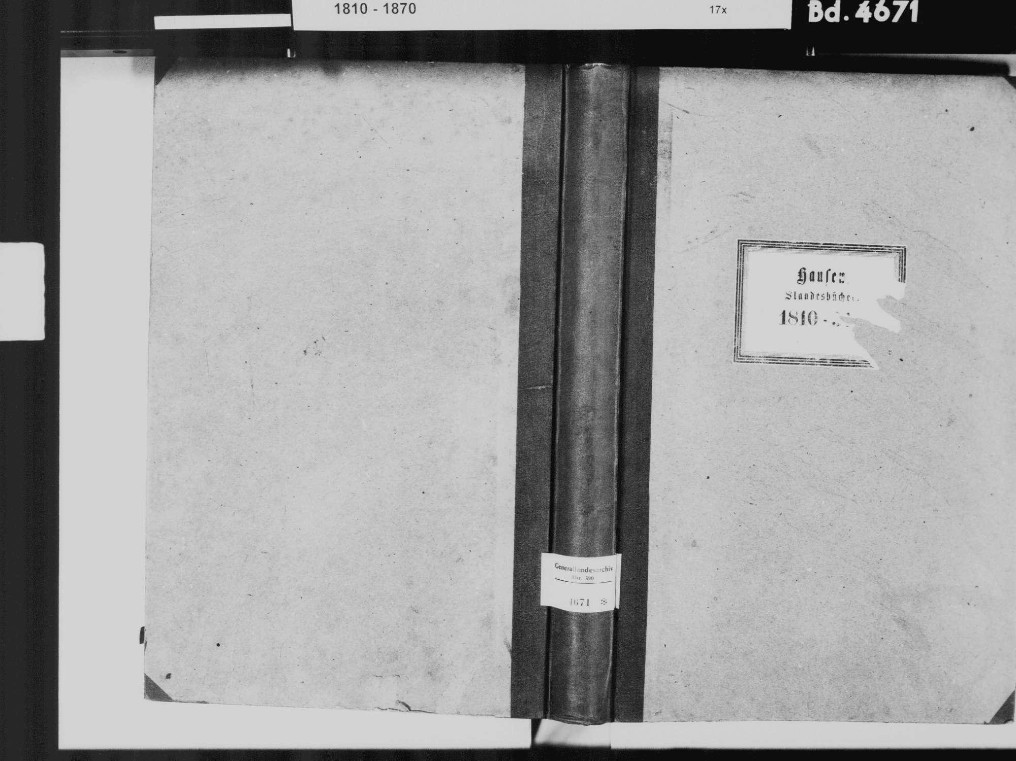 Hausen an der Aach, Singen (Hohentwiel) KN; Katholische Gemeinde: Standesbuch 1810-1834, Bild 2