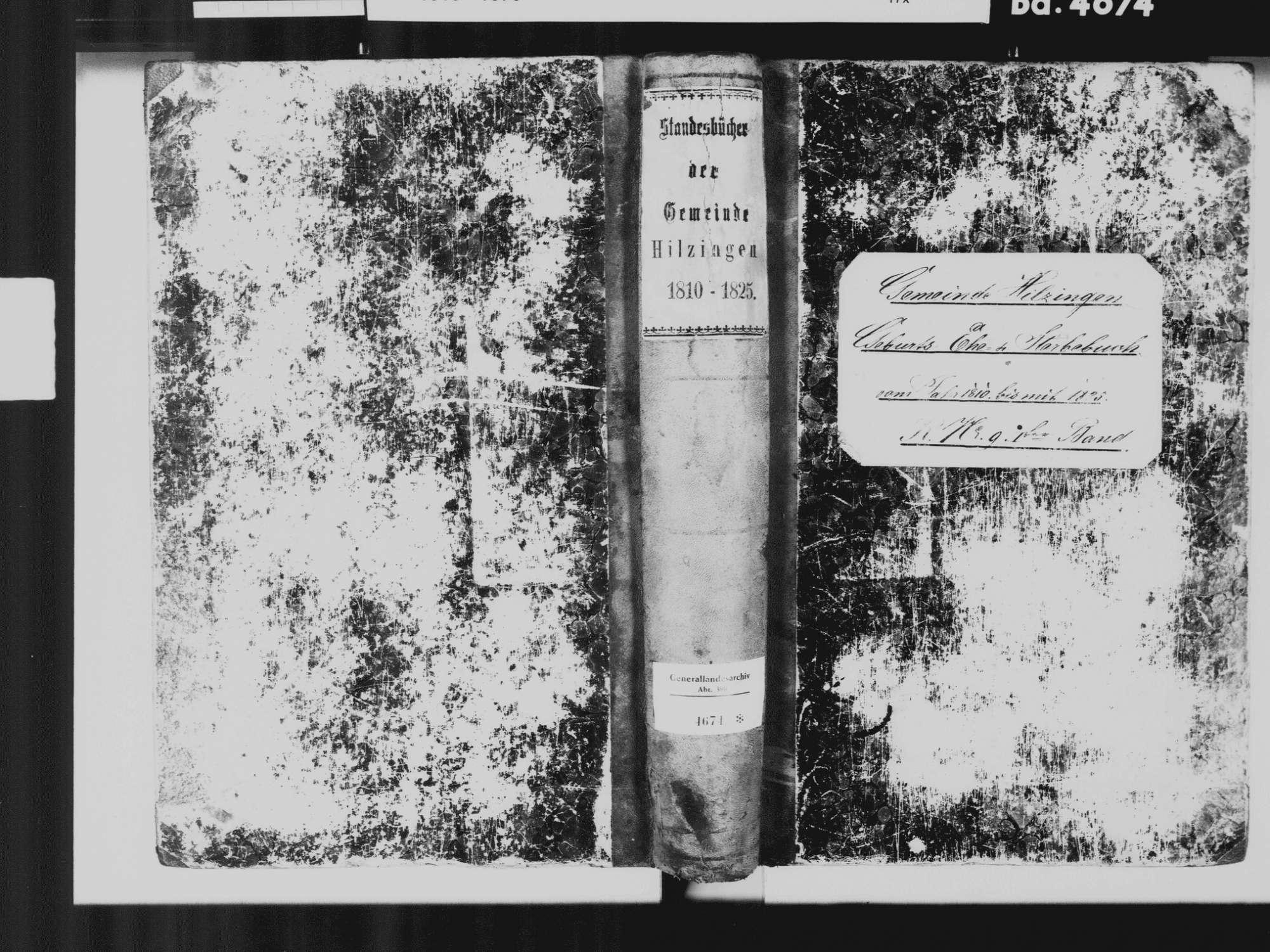 Hilzingen KN; Katholiche Gemeinde: Standesbuch 1810-1825, Bild 2