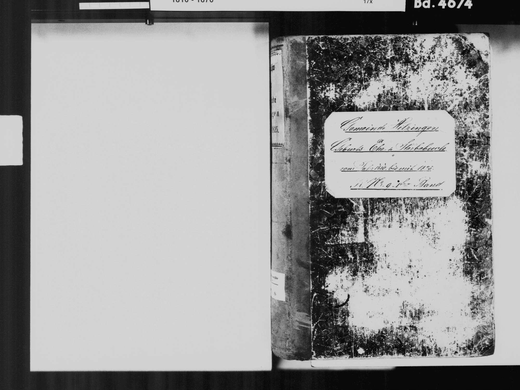 Hilzingen KN; Katholiche Gemeinde: Standesbuch 1810-1825, Bild 3