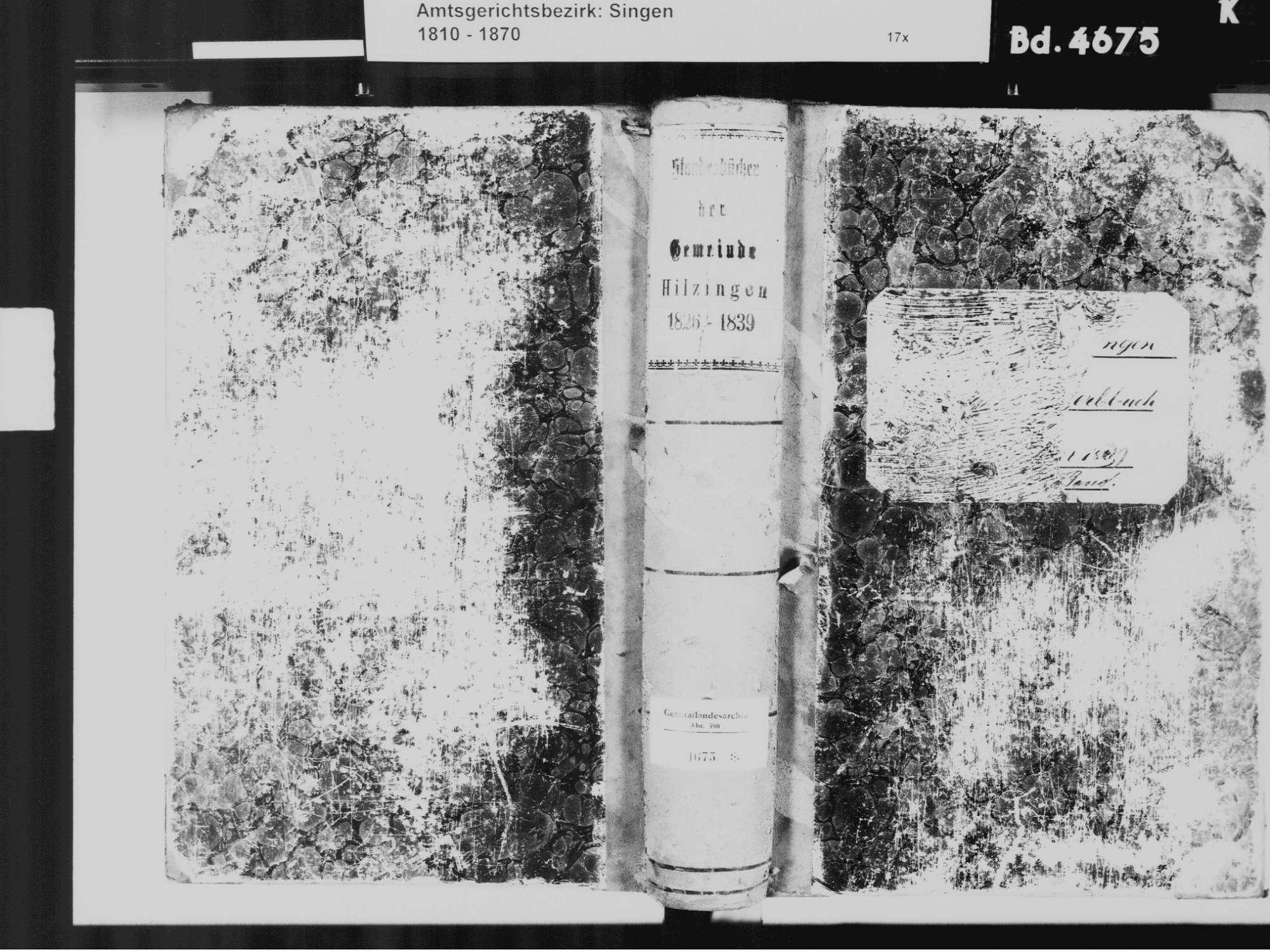 Hilzingen KN; Katholiche Gemeinde: Standesbuch 1826-1839, Bild 2