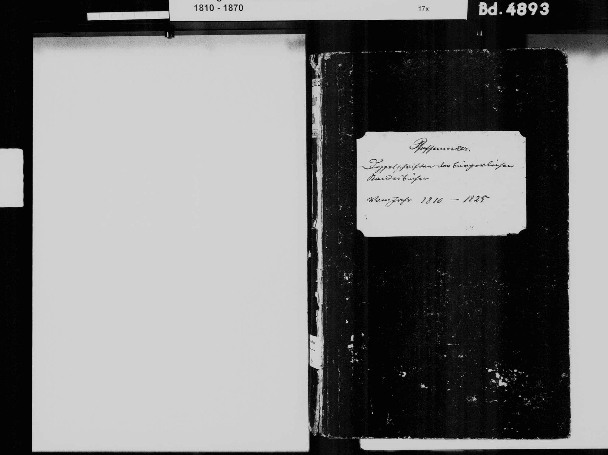 Pfaffenweiler FR; Katholische Gemeinde: Standesbuch 1810-1825, Bild 3