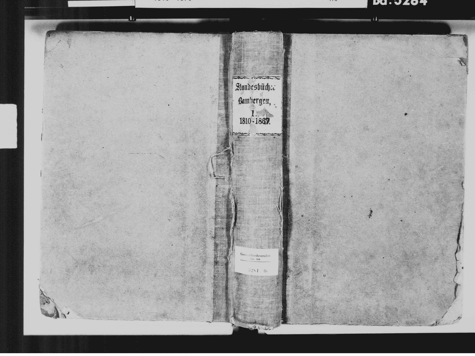 Bambergen, Überlingen FN; Katholische Gemeinde: Standesbuch 1810-1869, Bild 2