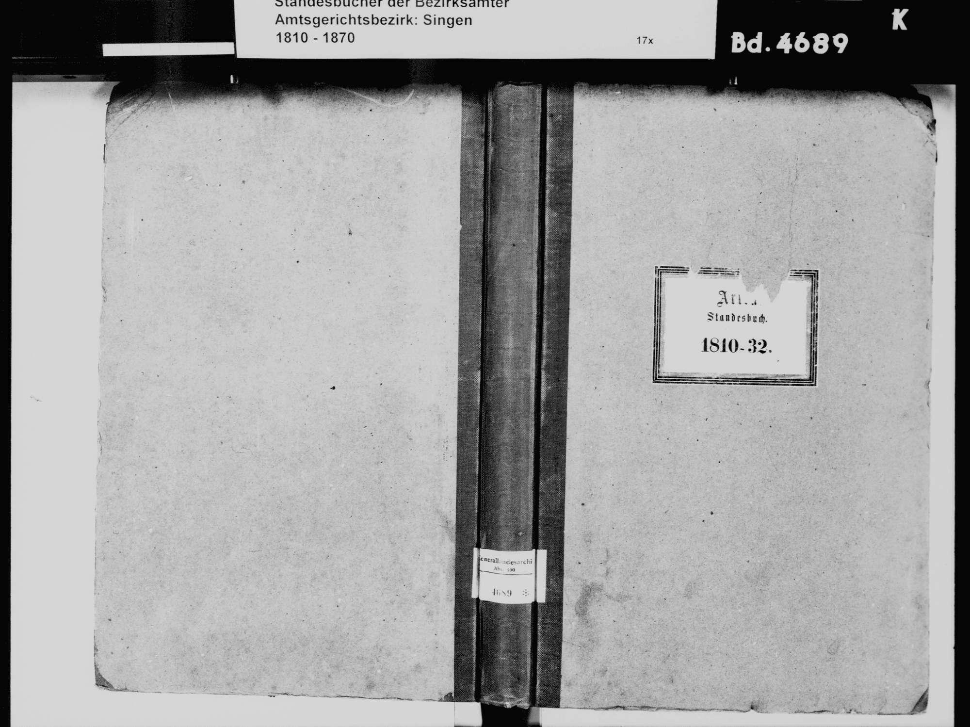 Arlen, aufgegangen in Rielasingen, Rielasingen-Worblingen KN; Katholische Gemeinde: Standesbuch 1810-1832, Bild 2