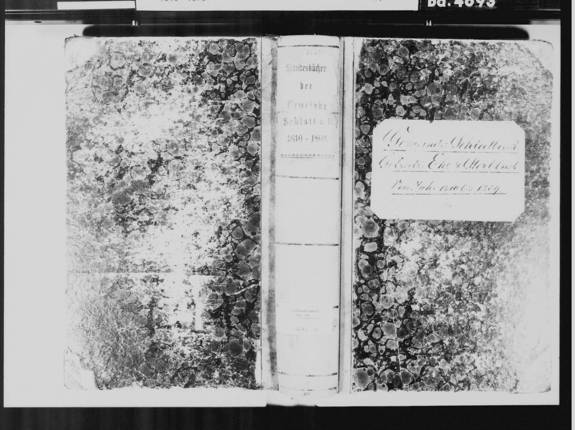 Schlatt am Randen, Hilzingen KN; Katholische Gemeinde: Standesbuch 1810-1869, Bild 2