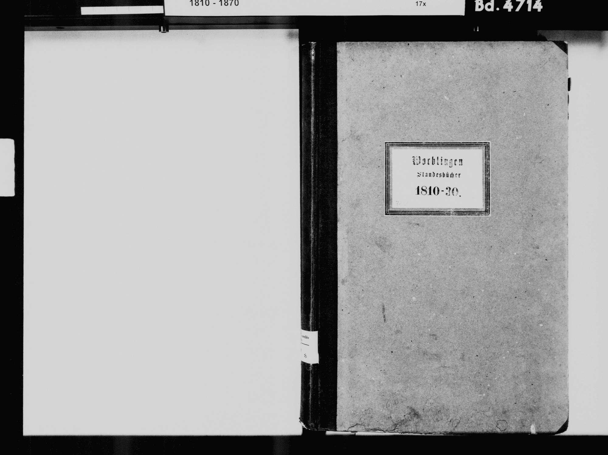 Worblingen, Rielasingen-Worblingen KN; Katholische Gemeinde: Standesbuch 1810-1830 Worblingen, Rielasingen-Worblingen KN; Israelitsche Gemeinde: Standesbuch 1781-1830 [besondere Liste über Geburten von 1781-1816 nach Jahrgang 1817], Bild 3