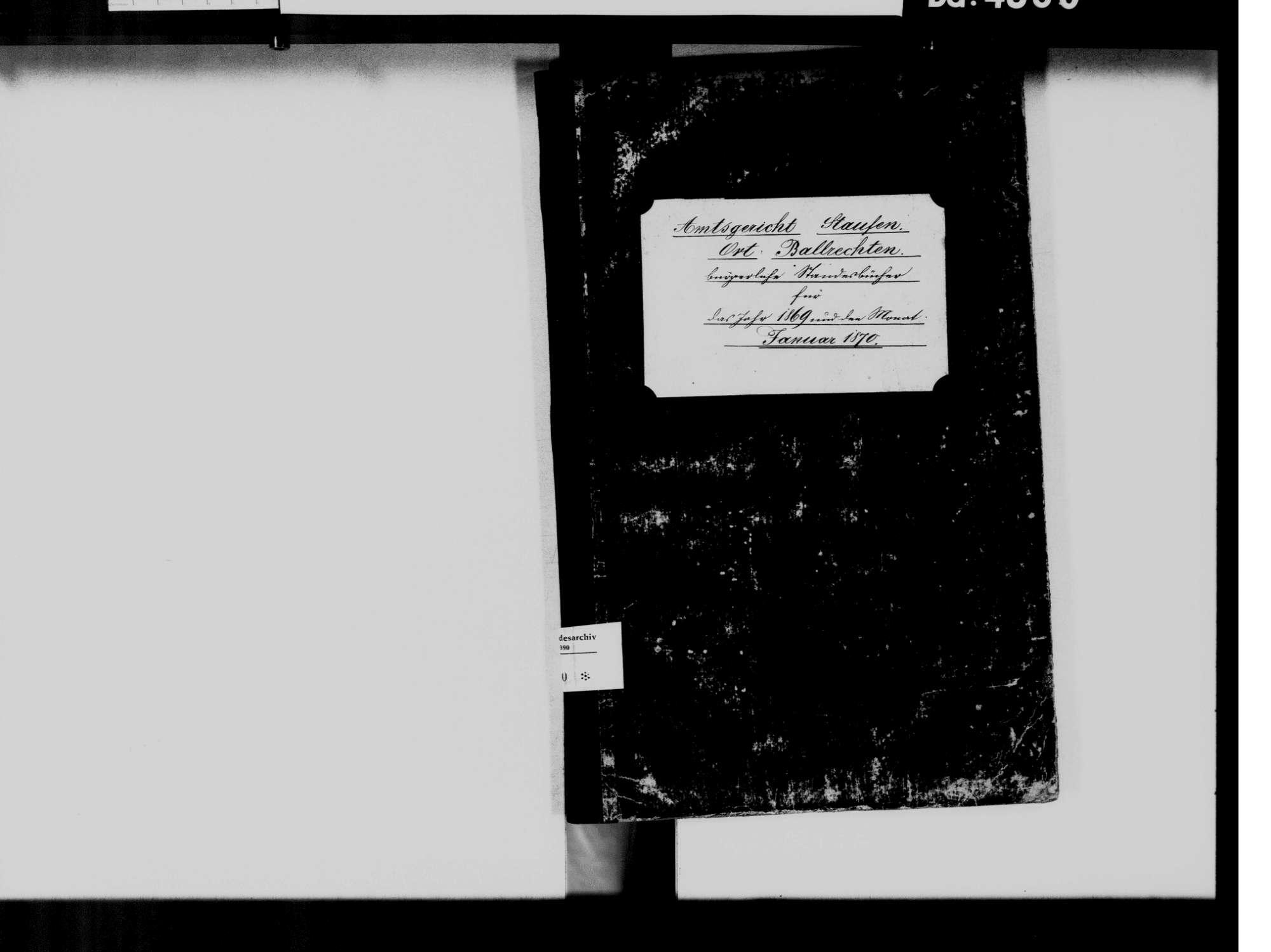 Ballrechten, Ballrechten-Dottingen FR; Katholische Gemeinde: Standesbuch 1869-1870, Bild 3