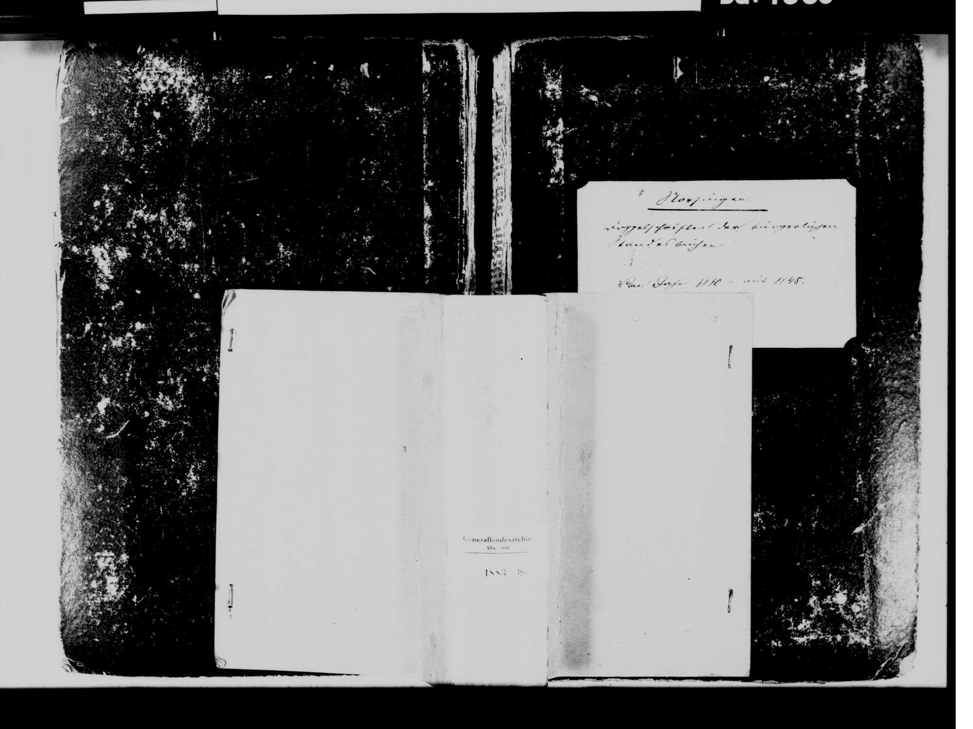Norsingen, Ehrenkirchen FR; Katholische Gemeinde: Standesbuch 1810-1845 [ab 1816 nicht geordnet], Bild 2