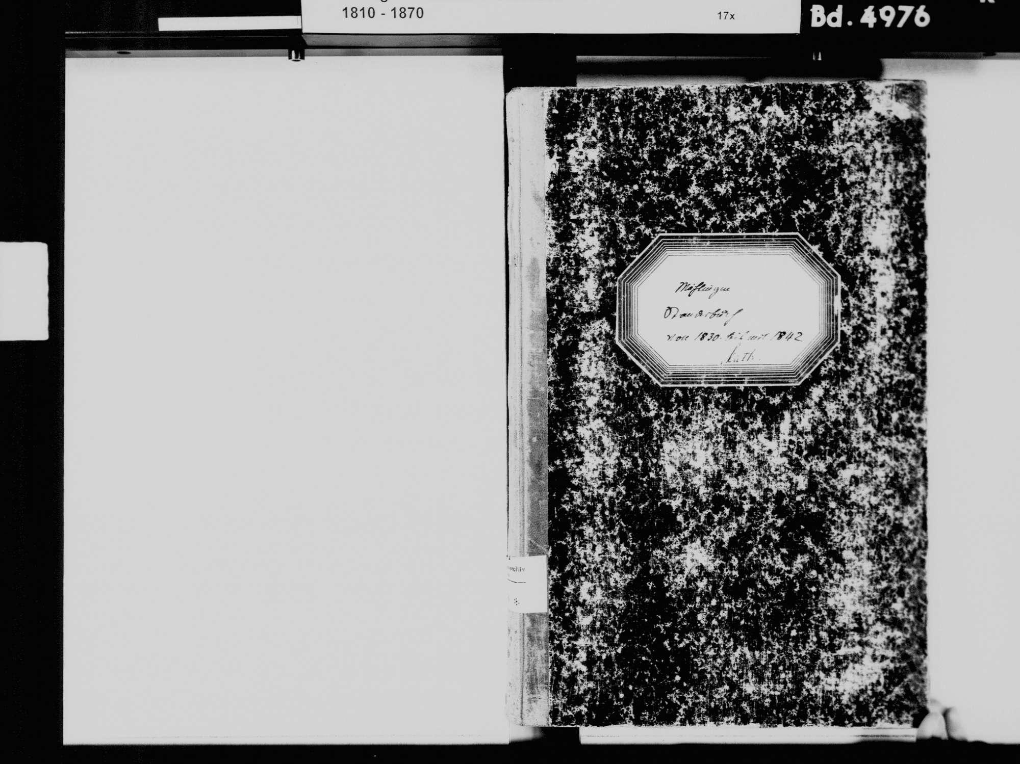 Mühlingen KN; Katholische Gemeinde: Standesbuch 1830-1842, Bild 3