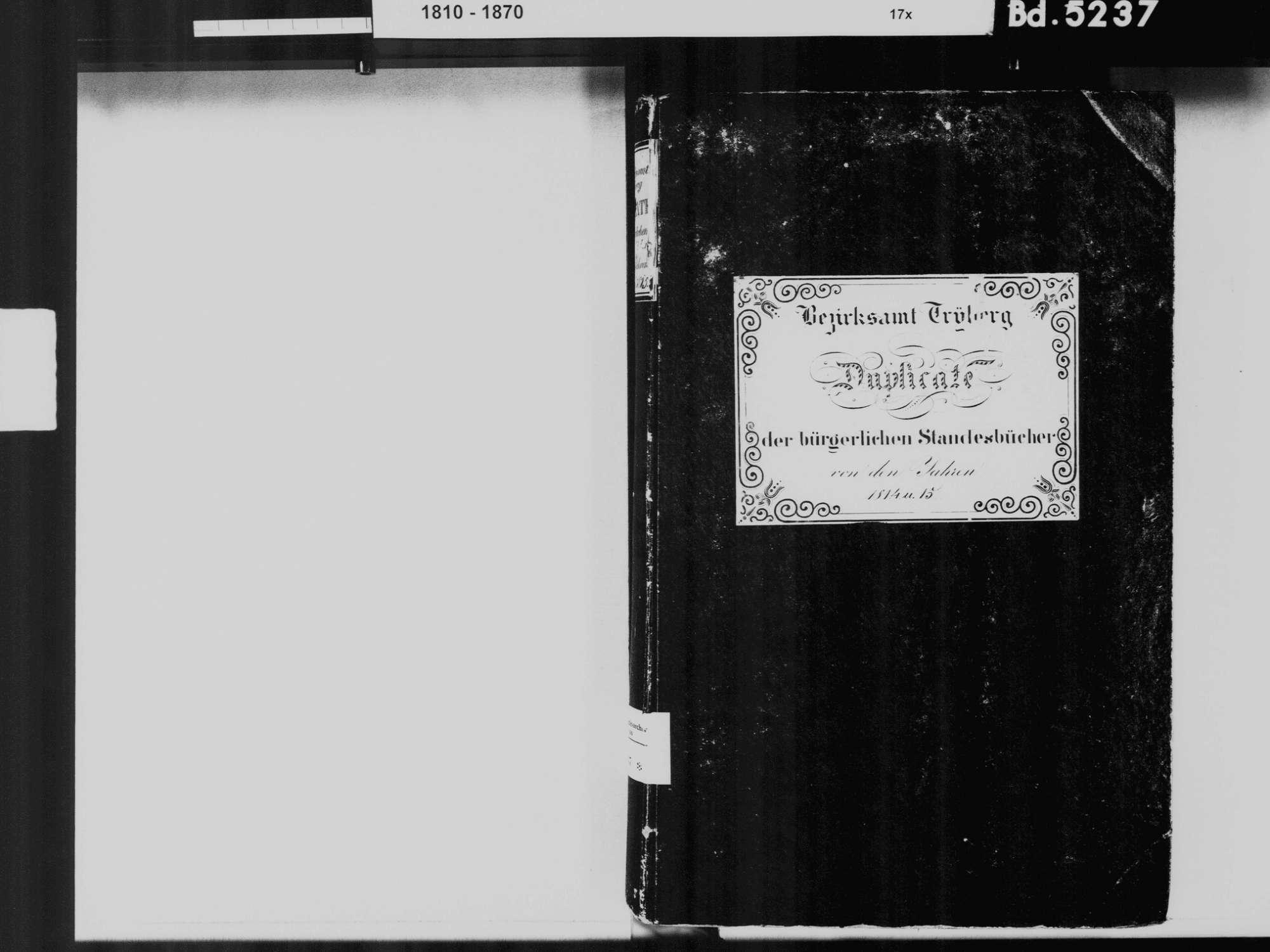Triberg im Schwarzwald VS; Katholische Gemeinde: Standesbuch 1814-1815, Bild 3