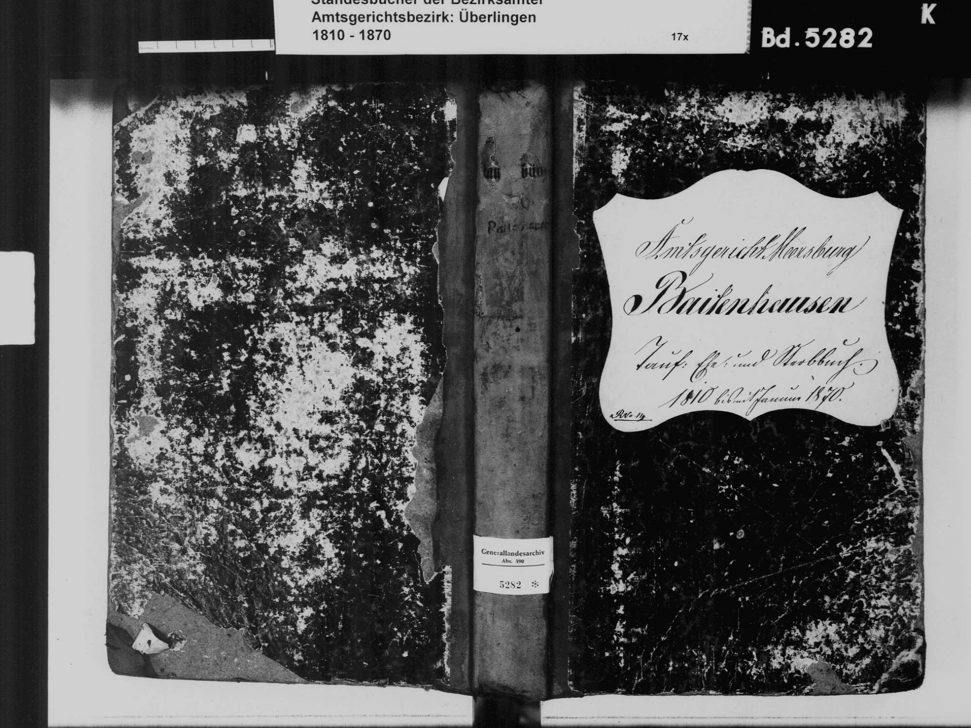 Baitenhausen, Meersburg FN; Katholische Gemeinde: Standesbuch 1810-1870, Bild 2
