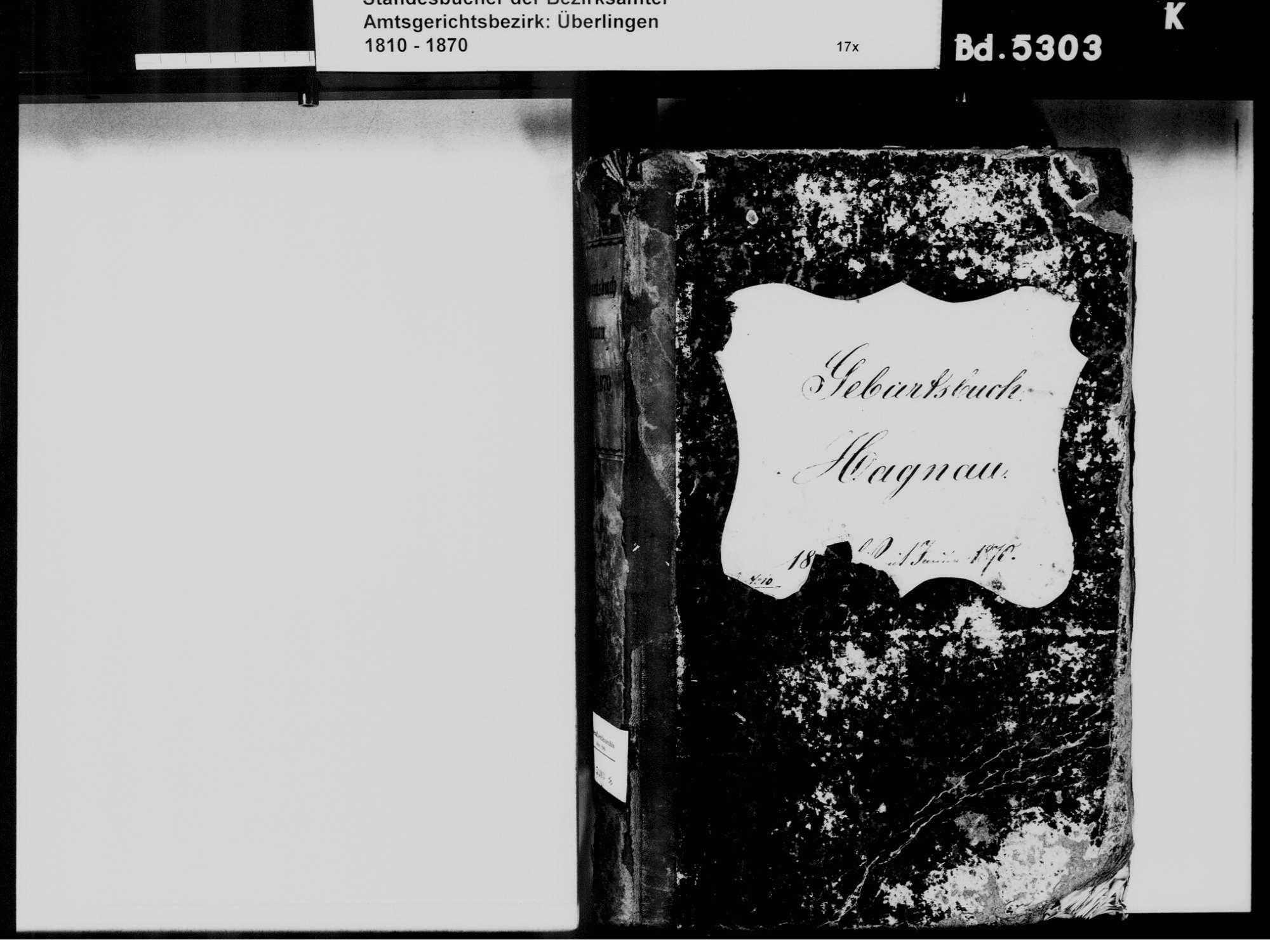 Hagnau am Bodensee FN; Katholische Gemeinde: Geburtenbuch 1810-1870, Bild 3