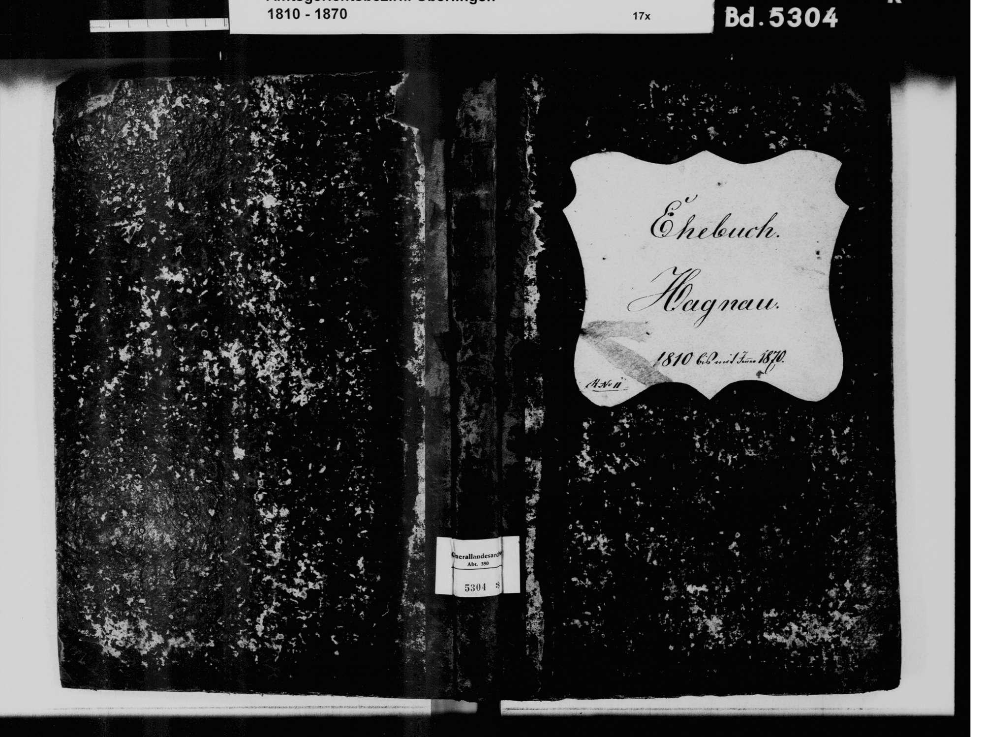 Hagnau am Bodensee FN; Katholische Gemeinde: Heiratsbuch 1810-1870, Bild 2