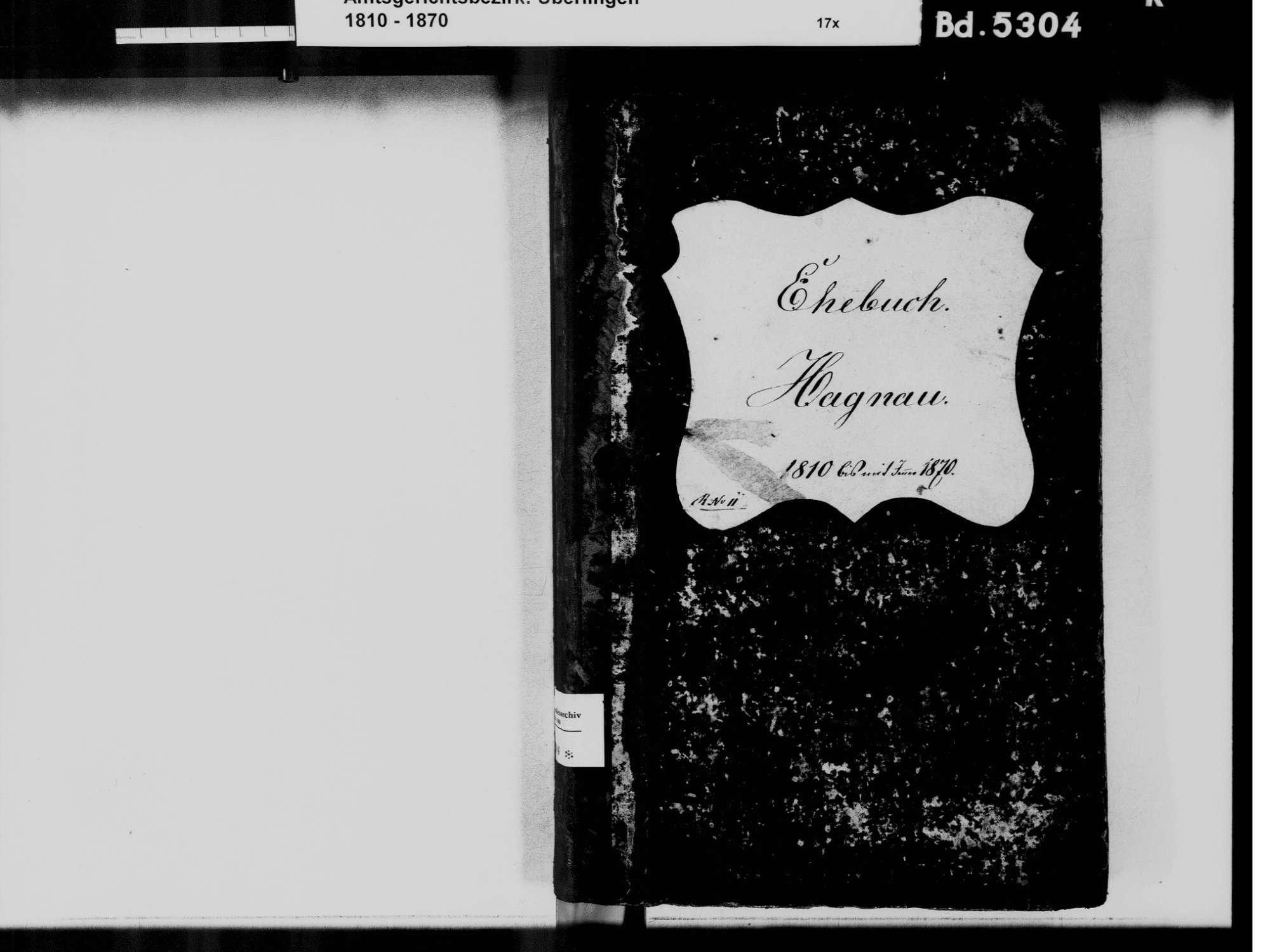 Hagnau am Bodensee FN; Katholische Gemeinde: Heiratsbuch 1810-1870, Bild 3