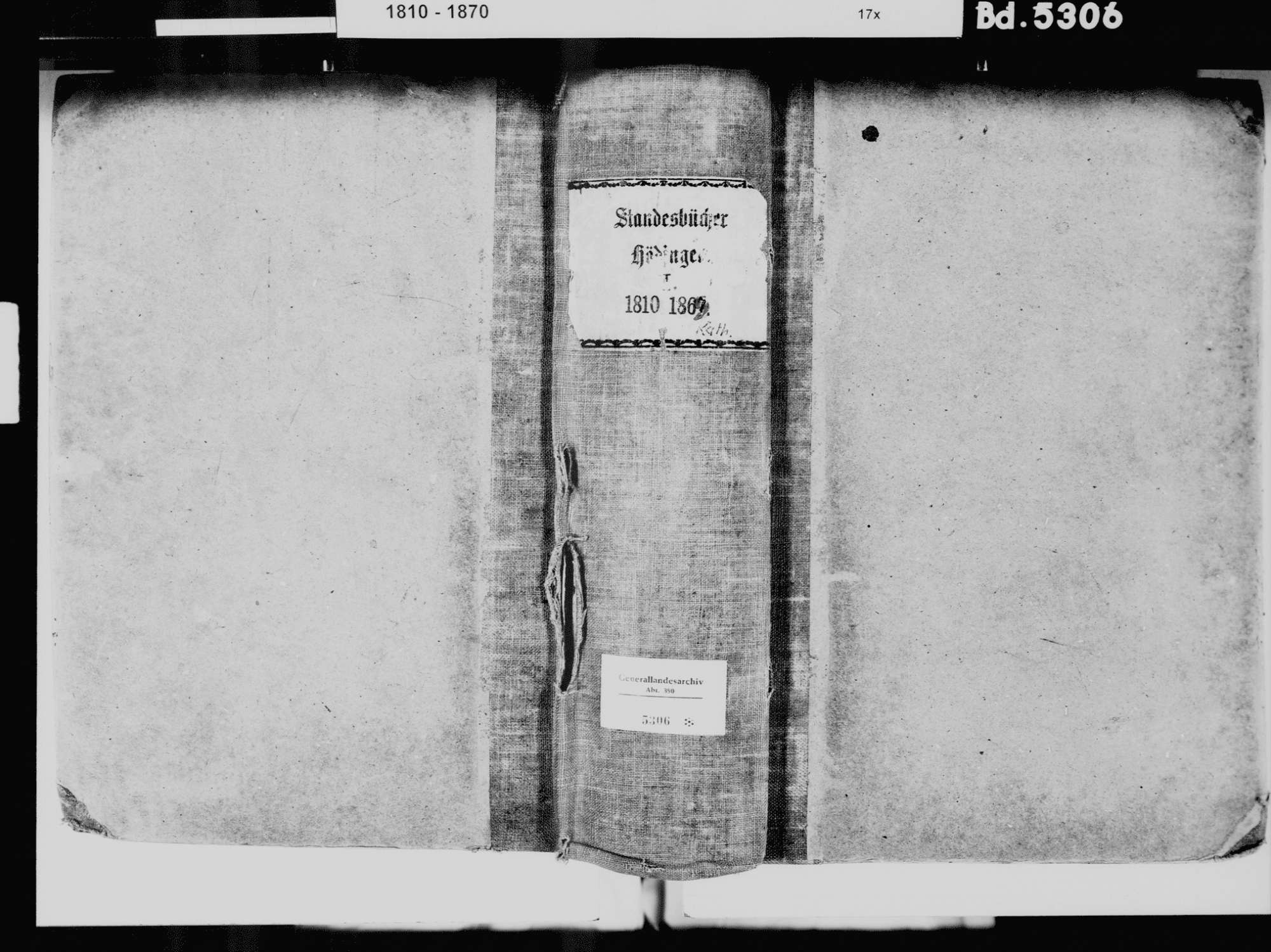 Hödingen, Überlingen FN; Katholische Gemeinde: Standesbuch 1810-1869, Bild 2