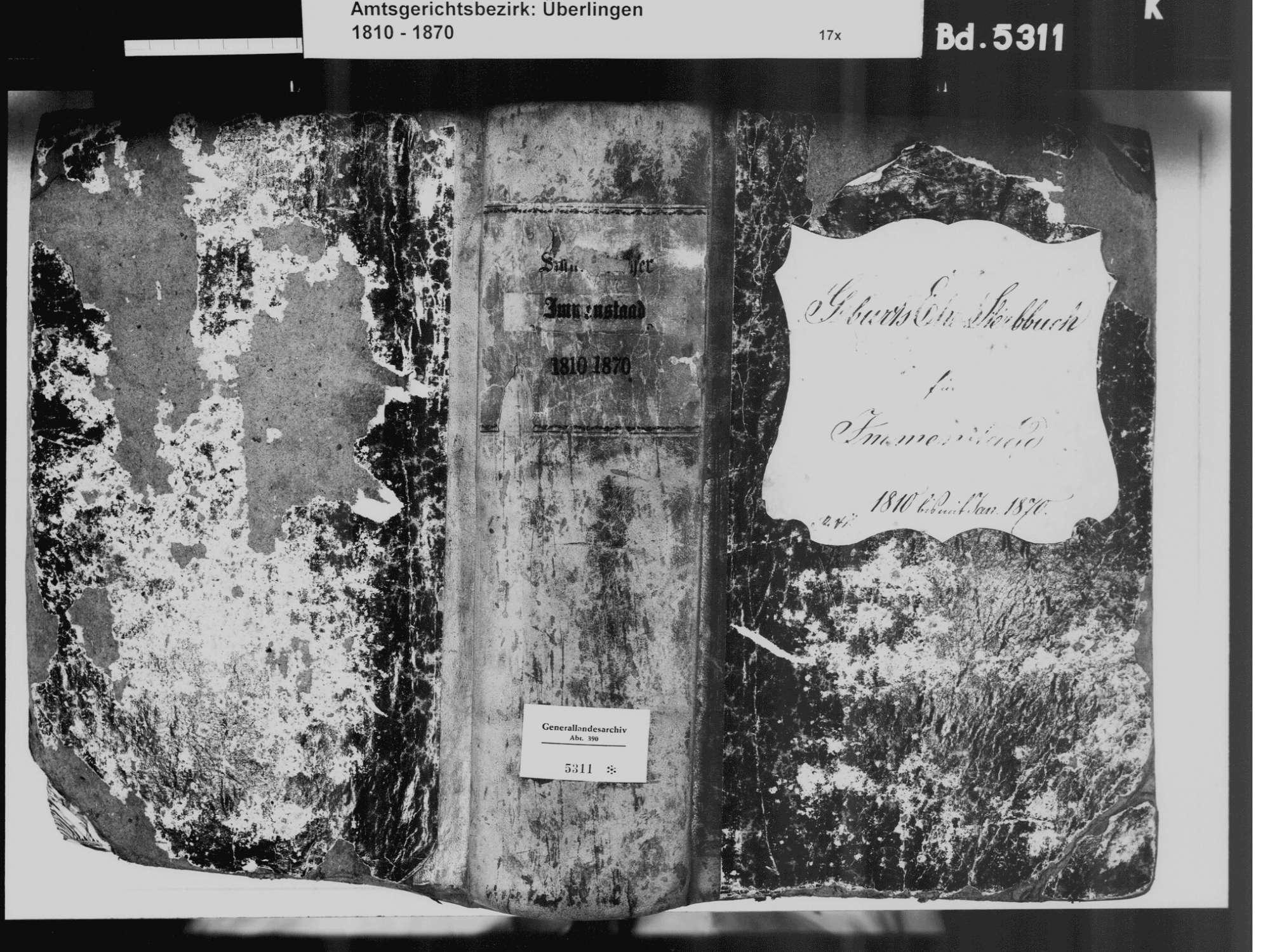 Immenstaad am Bodensee FN; Katholische Gemeinde: Standesbuch 1810-1870, Bild 2